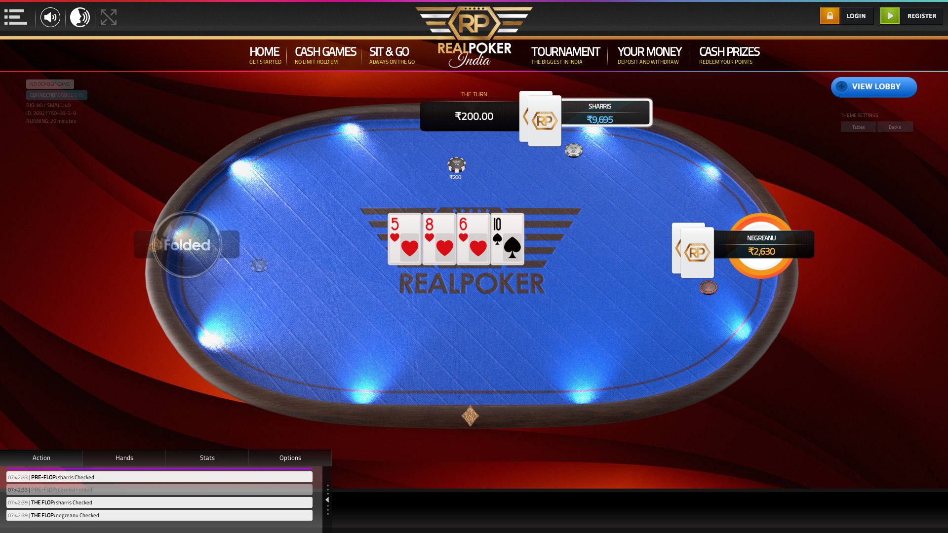 10 player poker in the 29th minute