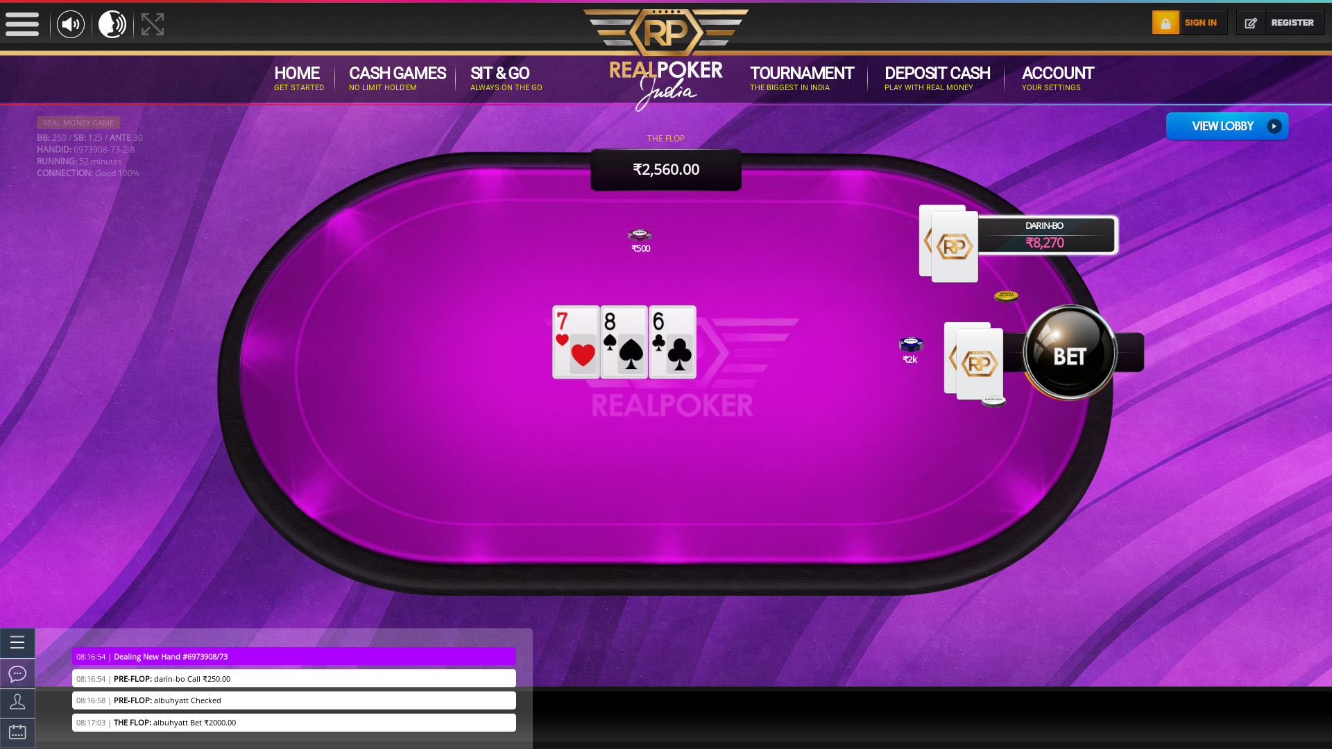 10 player poker in the 51st minute