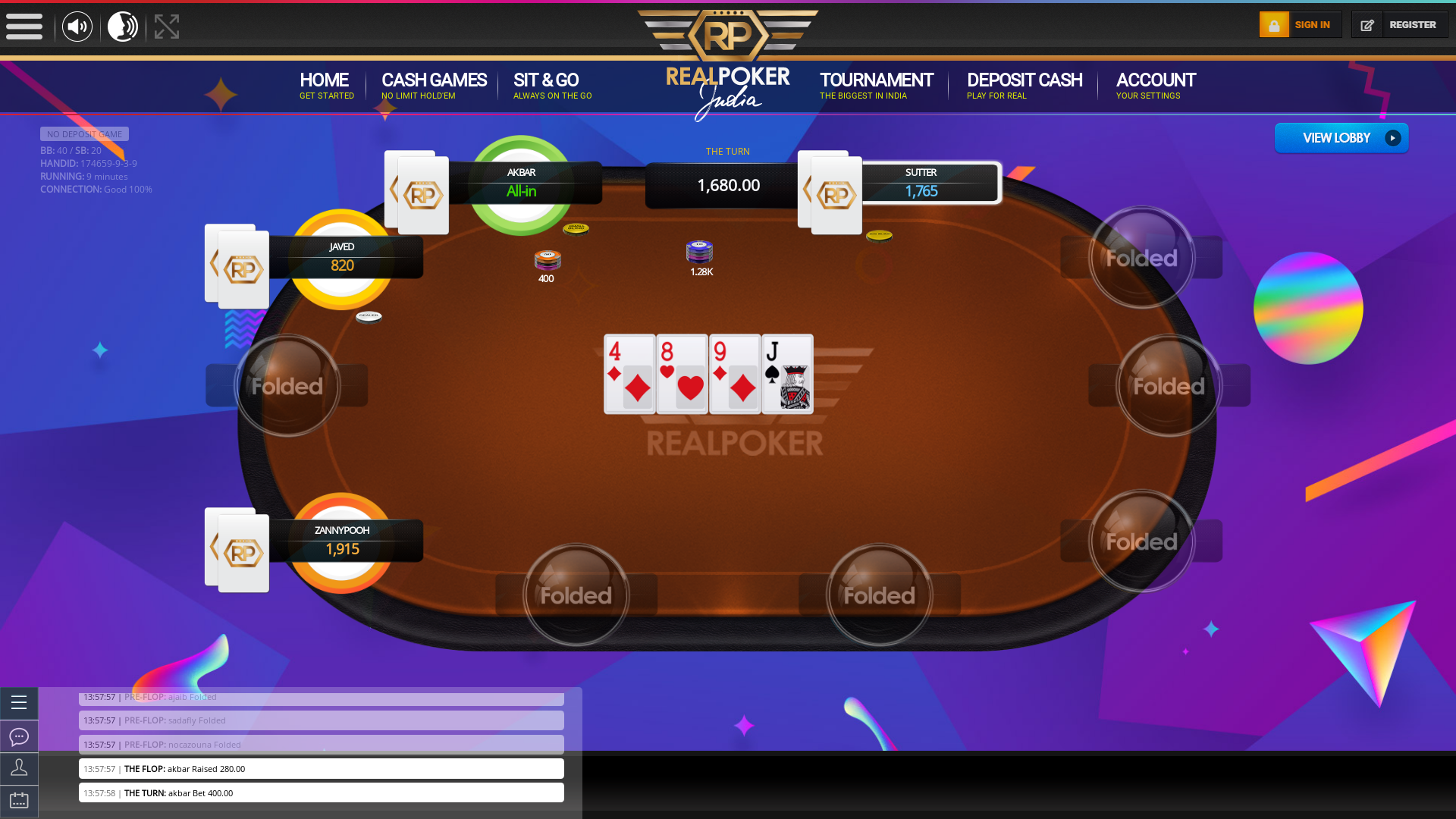 10 player poker in the 9th minute