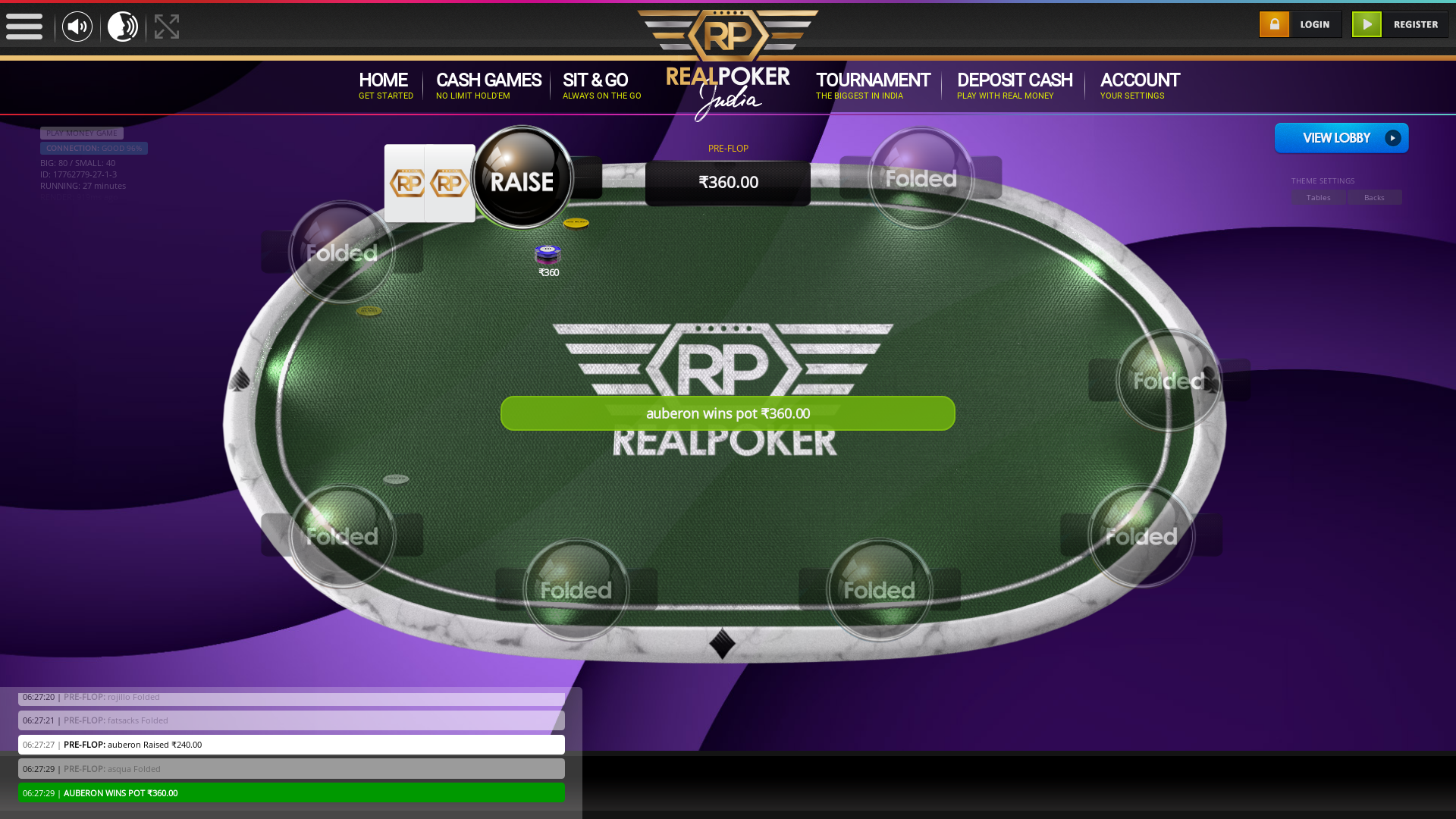 10 player texas holdem table at real poker with the table id 17762779