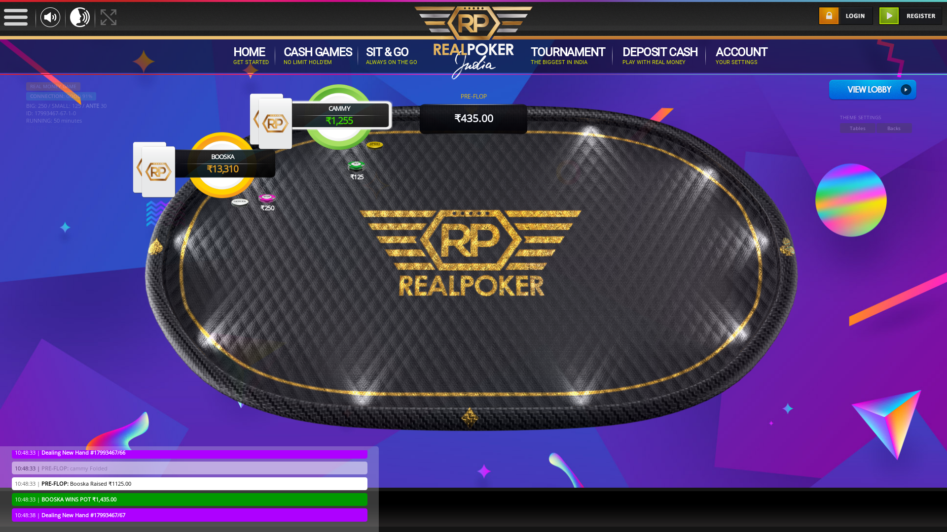 10 player texas holdem table at real poker with the table id 17993467