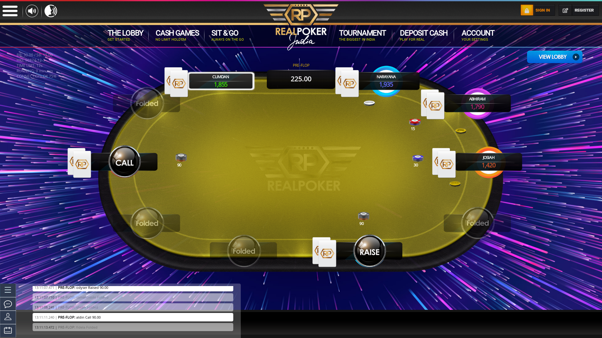 Colva Free Poker Money Tournament 10 Player