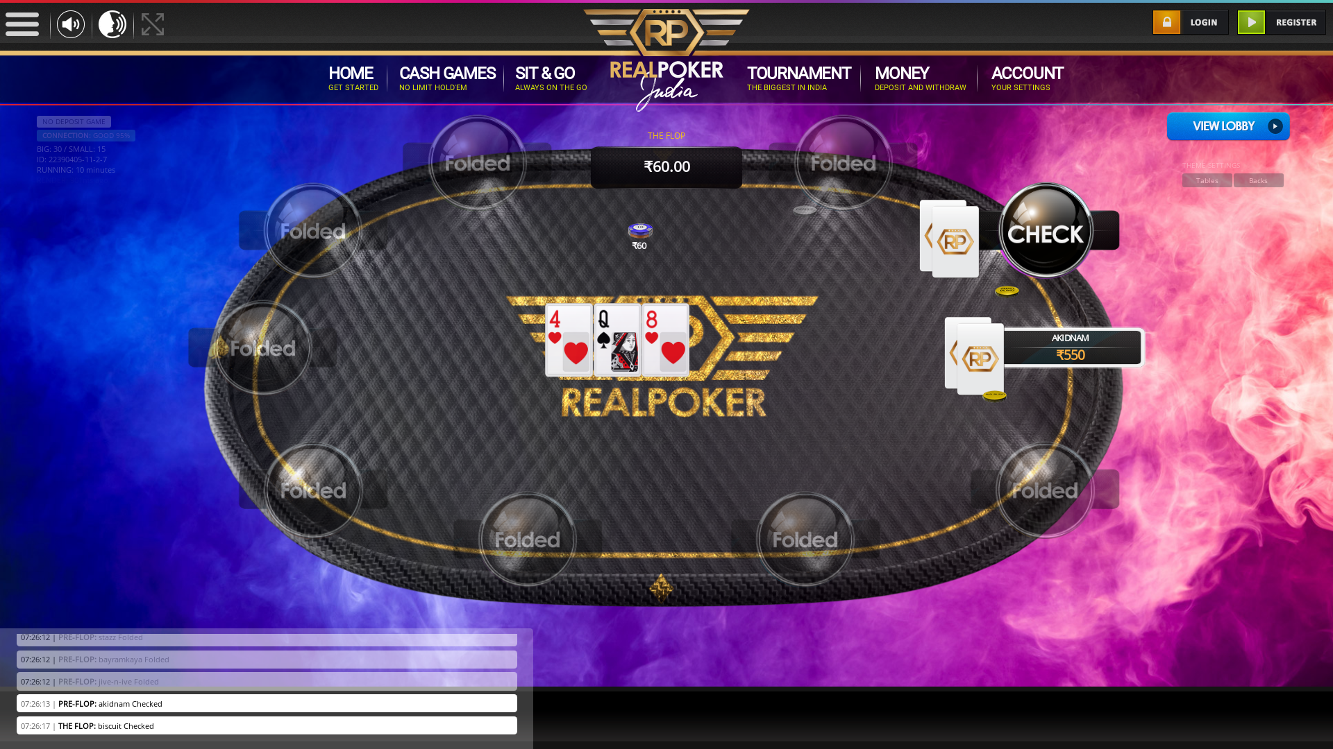 New Delhi Online Poker from 23rd August