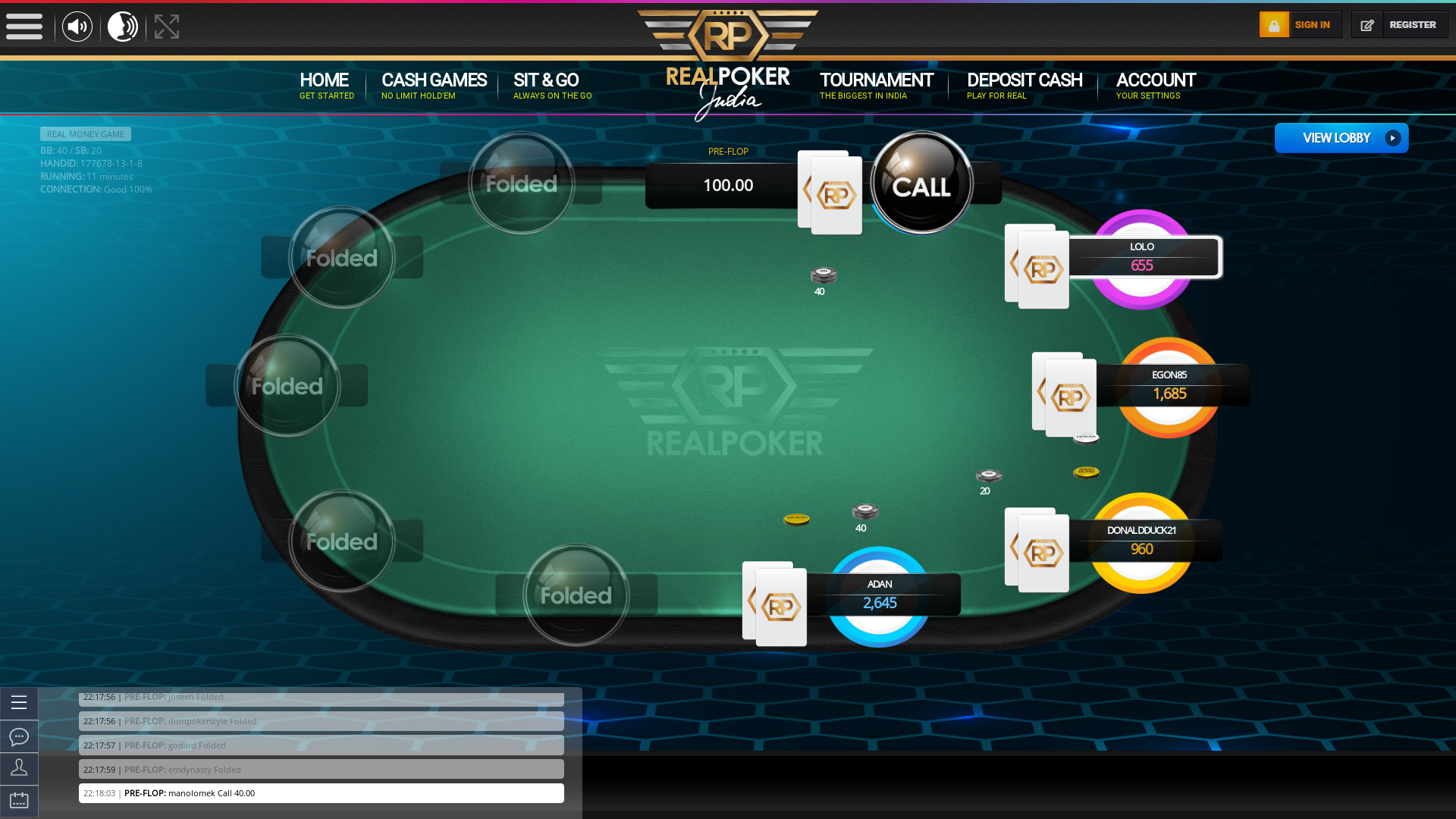 Banaswadi, Bangalore Poker Website 10 Player