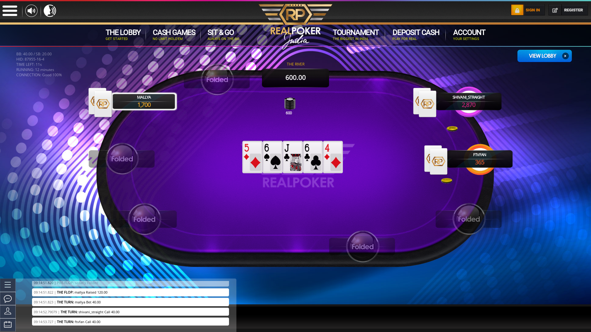 Casino Poker - 750.00 SNG  NL on the 5th July