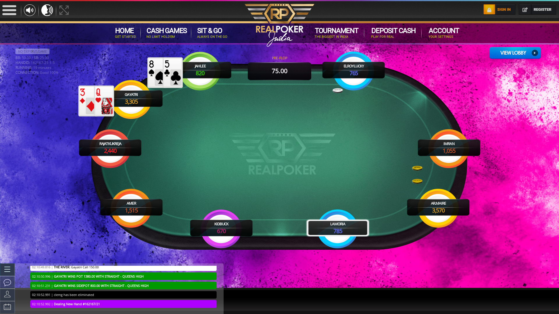 Gangtok Online Poker from 3rd August