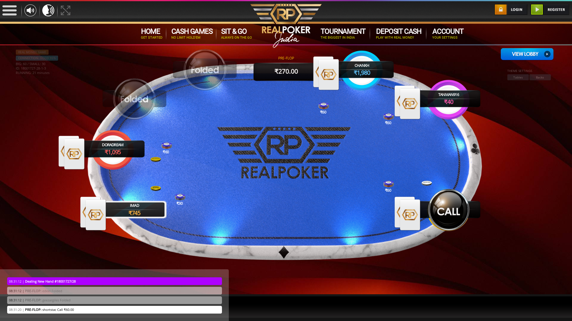 Greater Kailash, New Delhi 10 player poker in the 21st minute