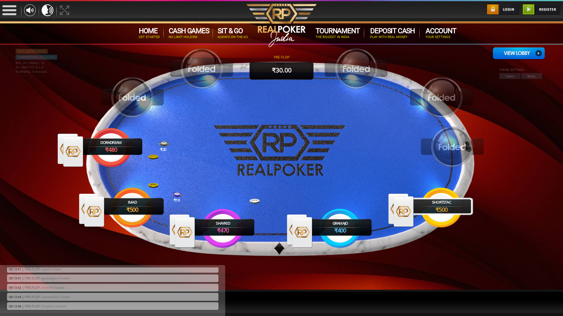 Greater Kailash, New Delhi texas holdem poker table on a 10 player table in the 3rd minute of the game