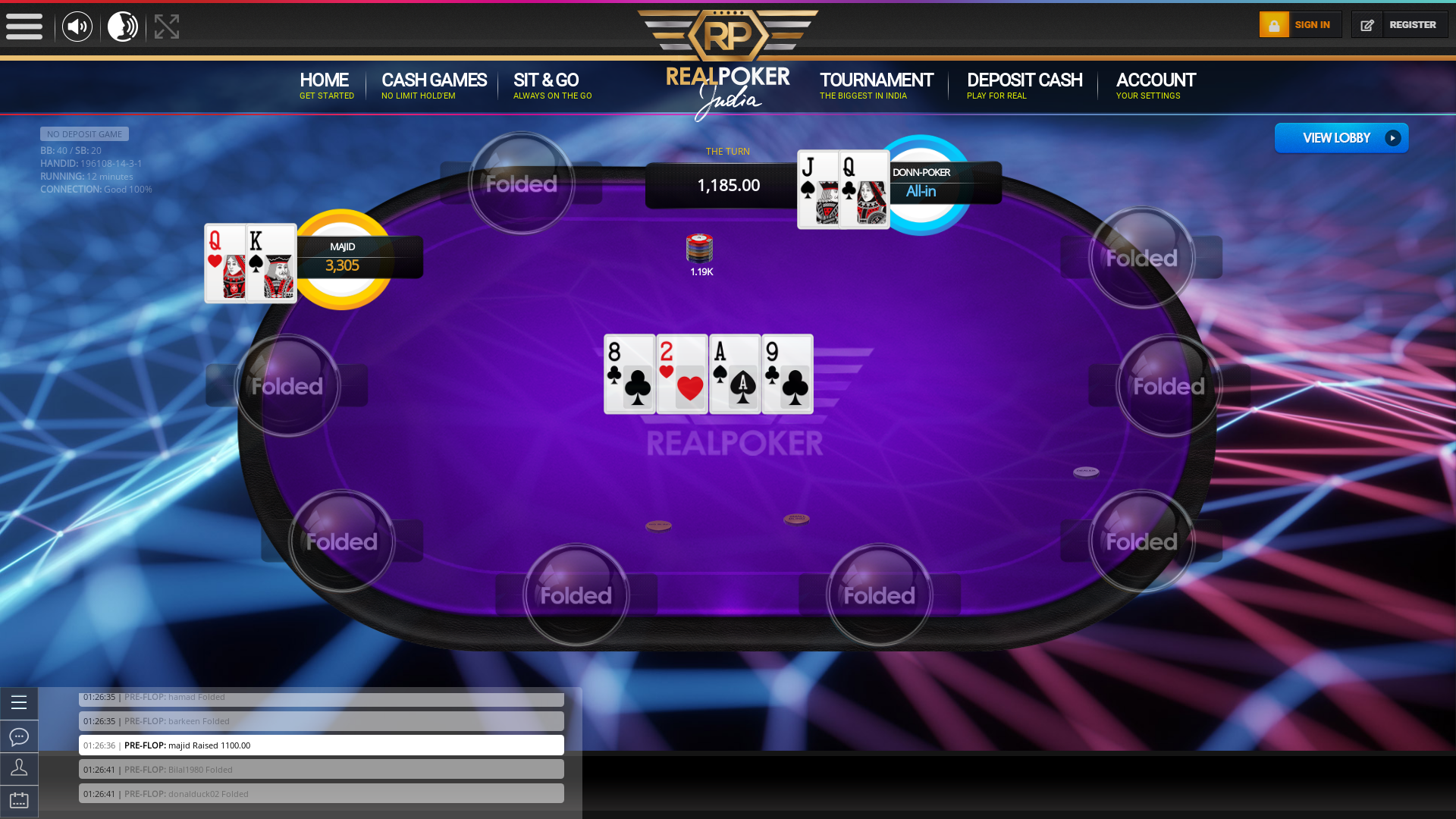 Indian 10 player poker in the 12th minute