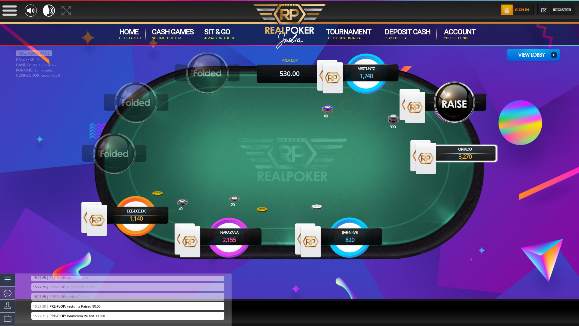 Indian 10 player poker in the 13th minute