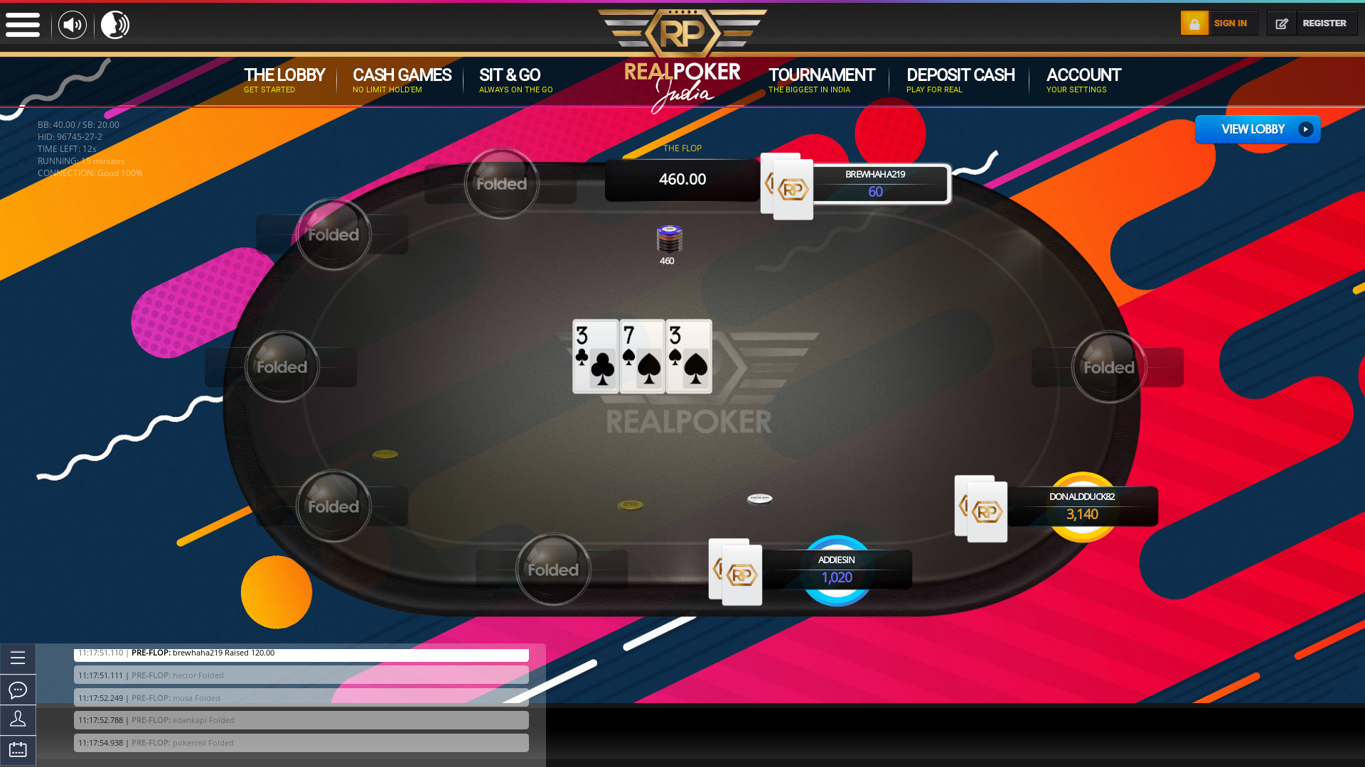 Indian 10 player poker in the 14th minute