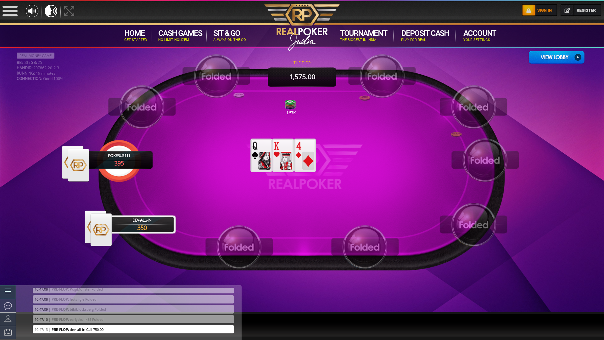 Indian 10 player poker in the 18th minute
