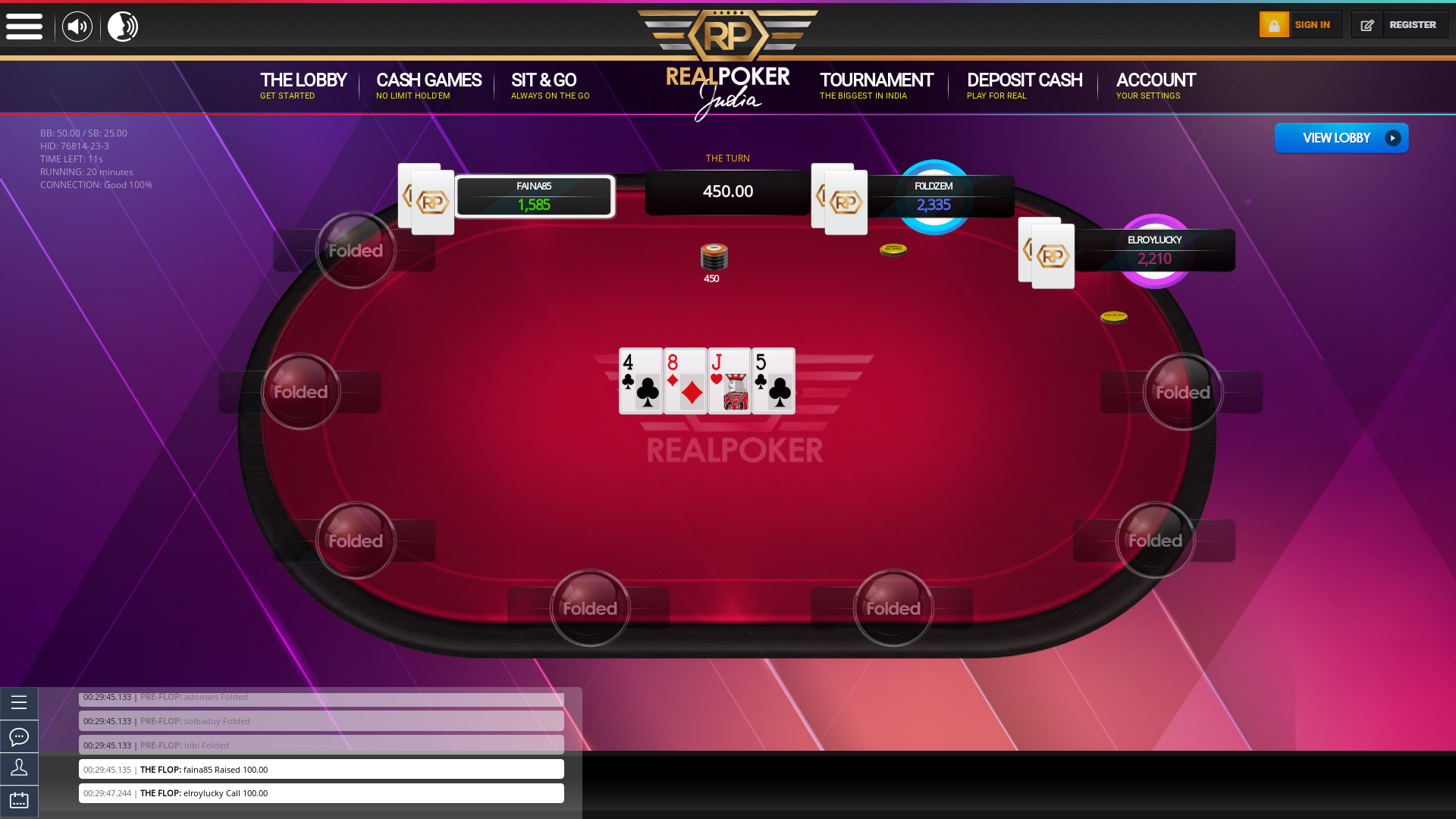 Indian 10 player poker in the 1st minute
