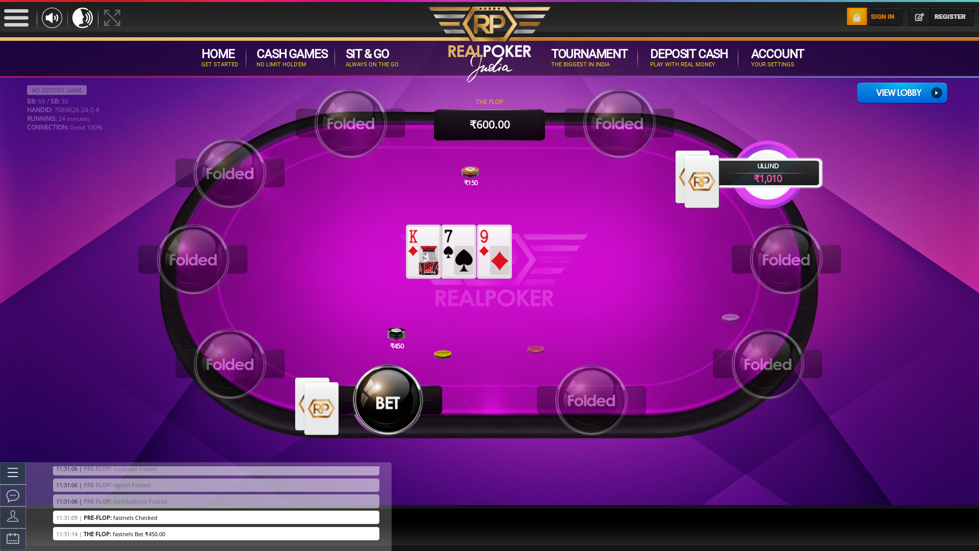 indian 10 player poker in the 24th minute