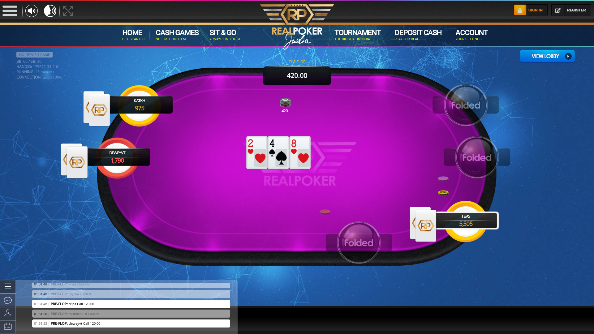 Indian 10 player poker in the 25th minute