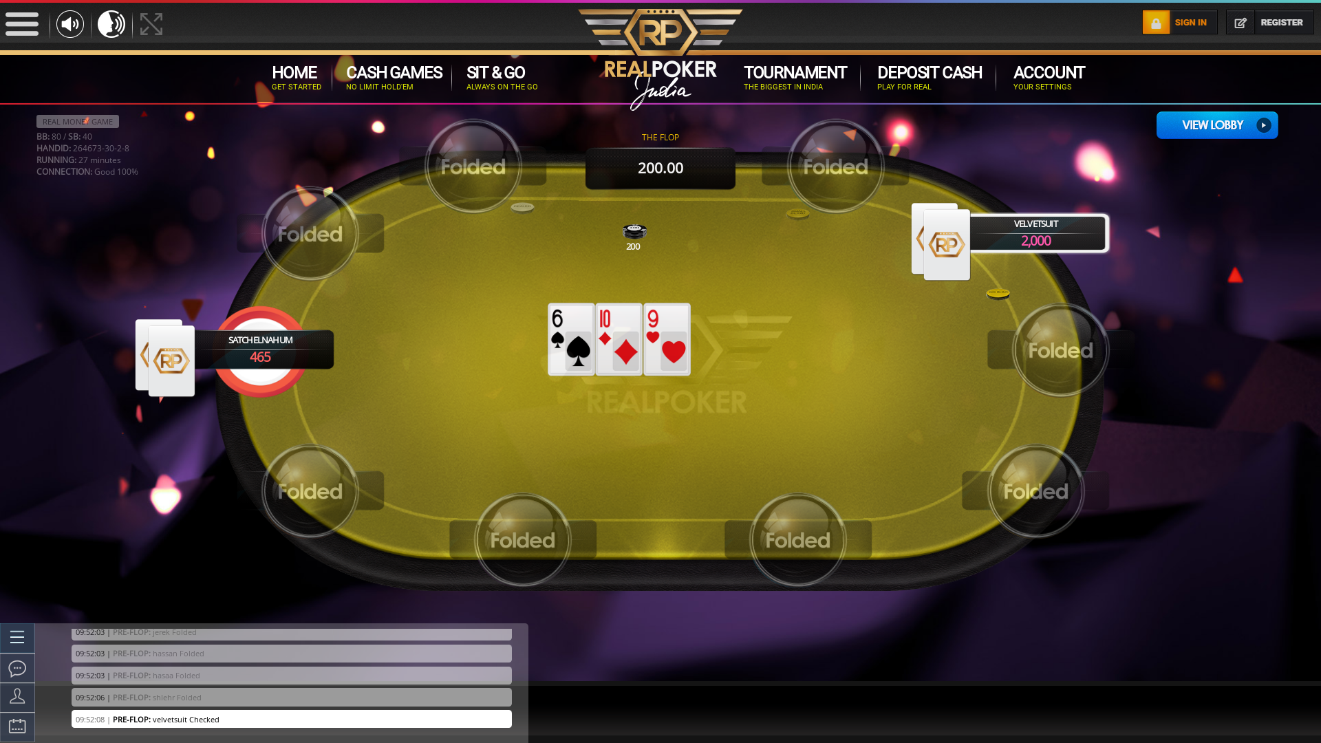 Indian 10 player poker in the 26th minute