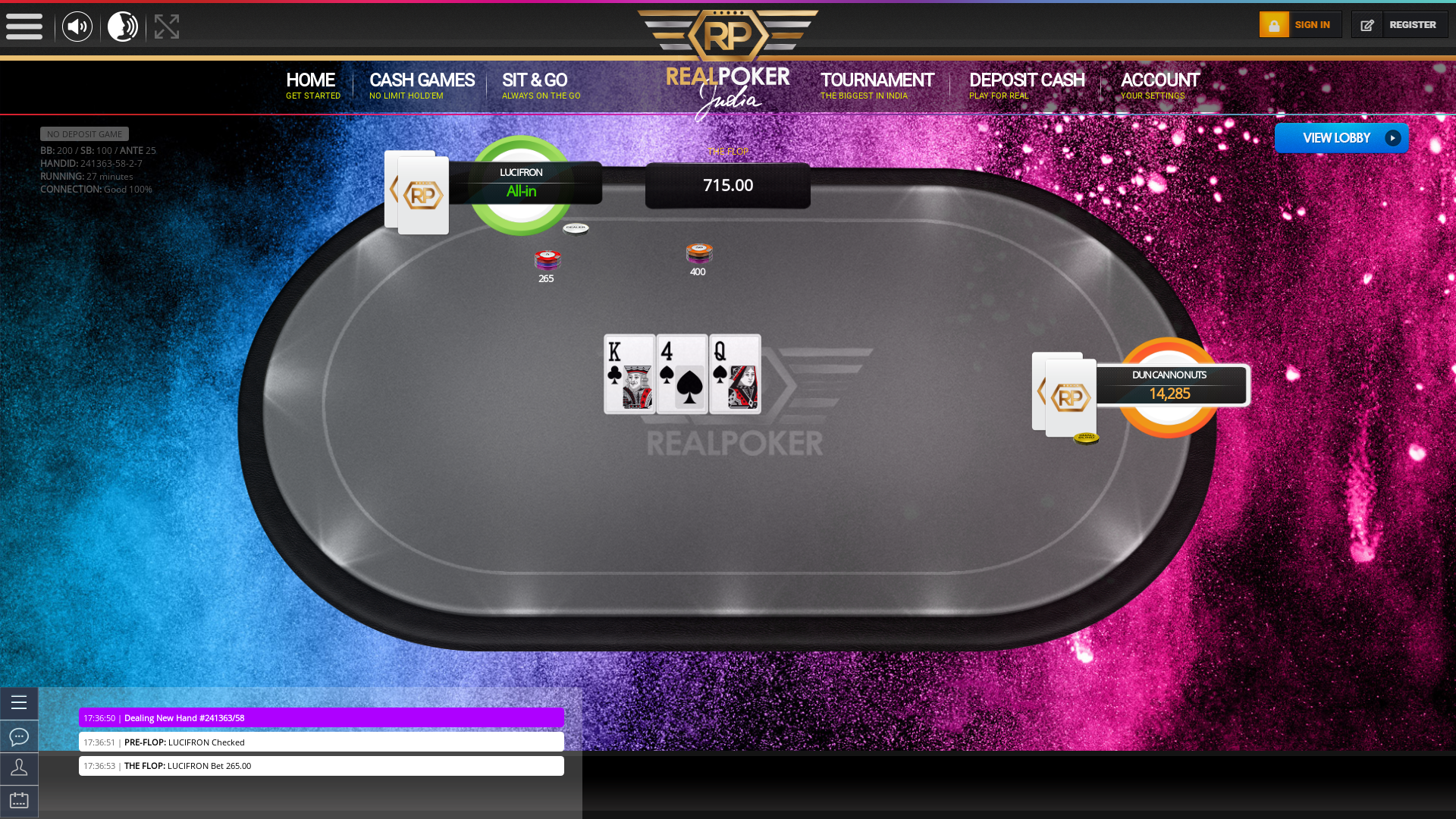 Indian 10 player poker in the 27th minute