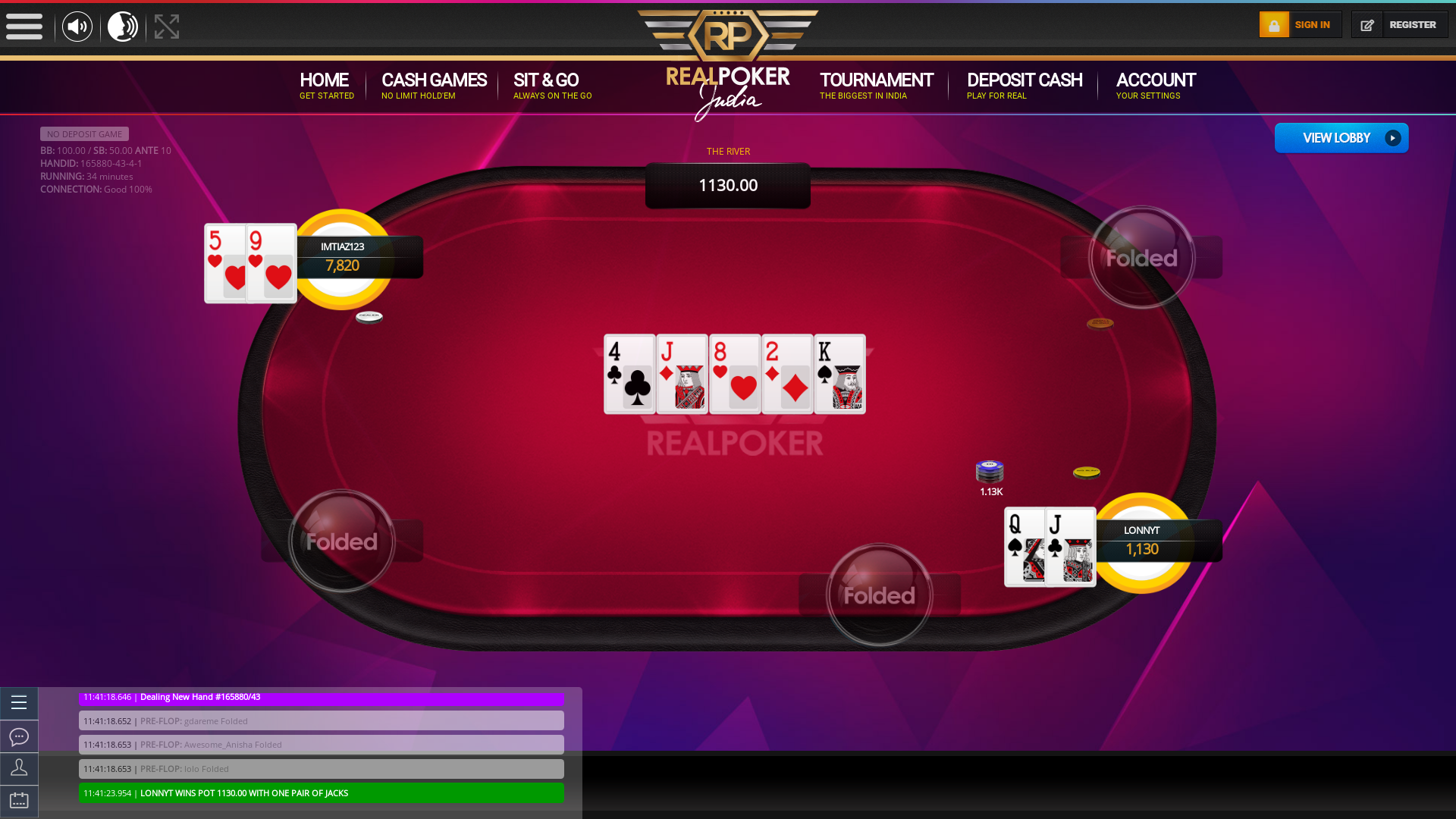 Indian 10 player poker in the 33rd minute