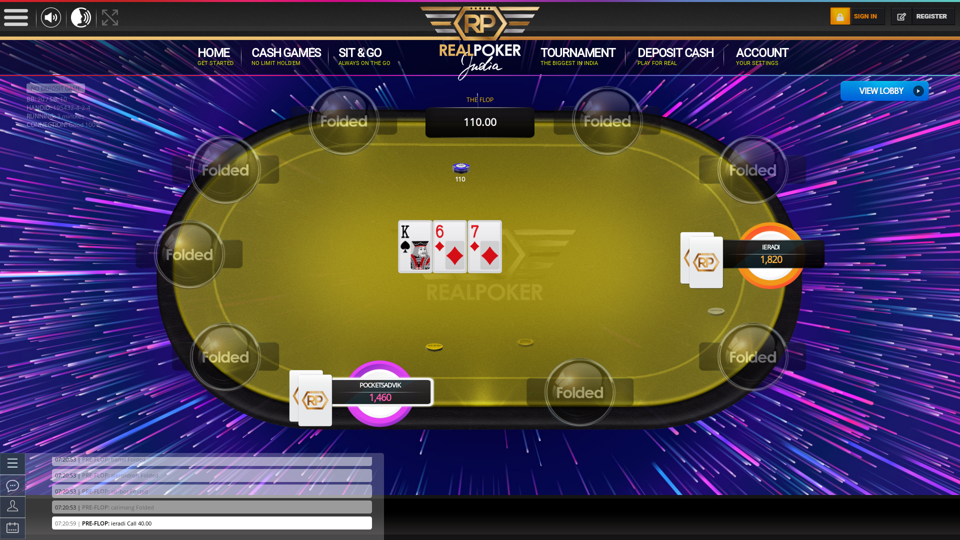 Indian 10 player poker in the 3rd minute