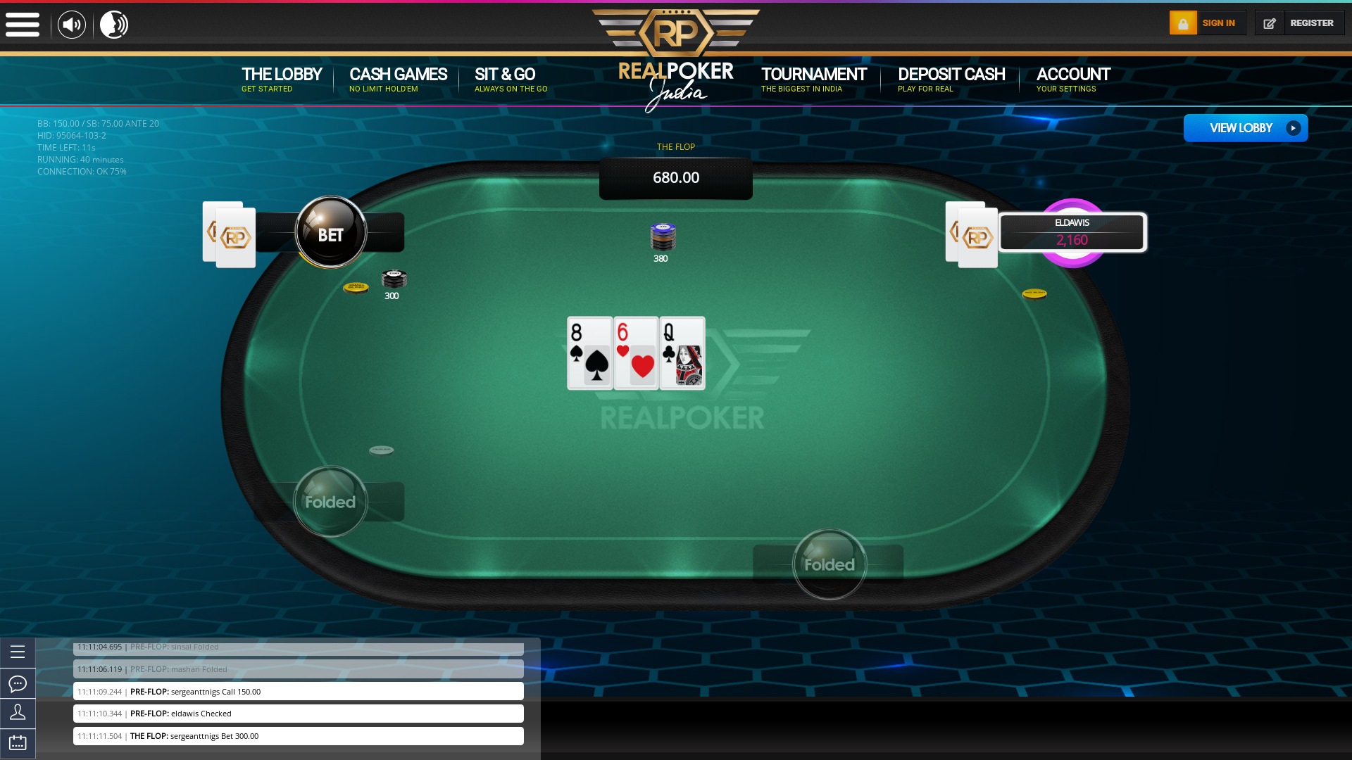 Indian 10 player poker in the 40th minute
