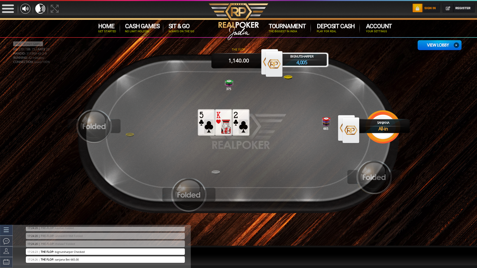 Indian 10 player poker in the 41st minute