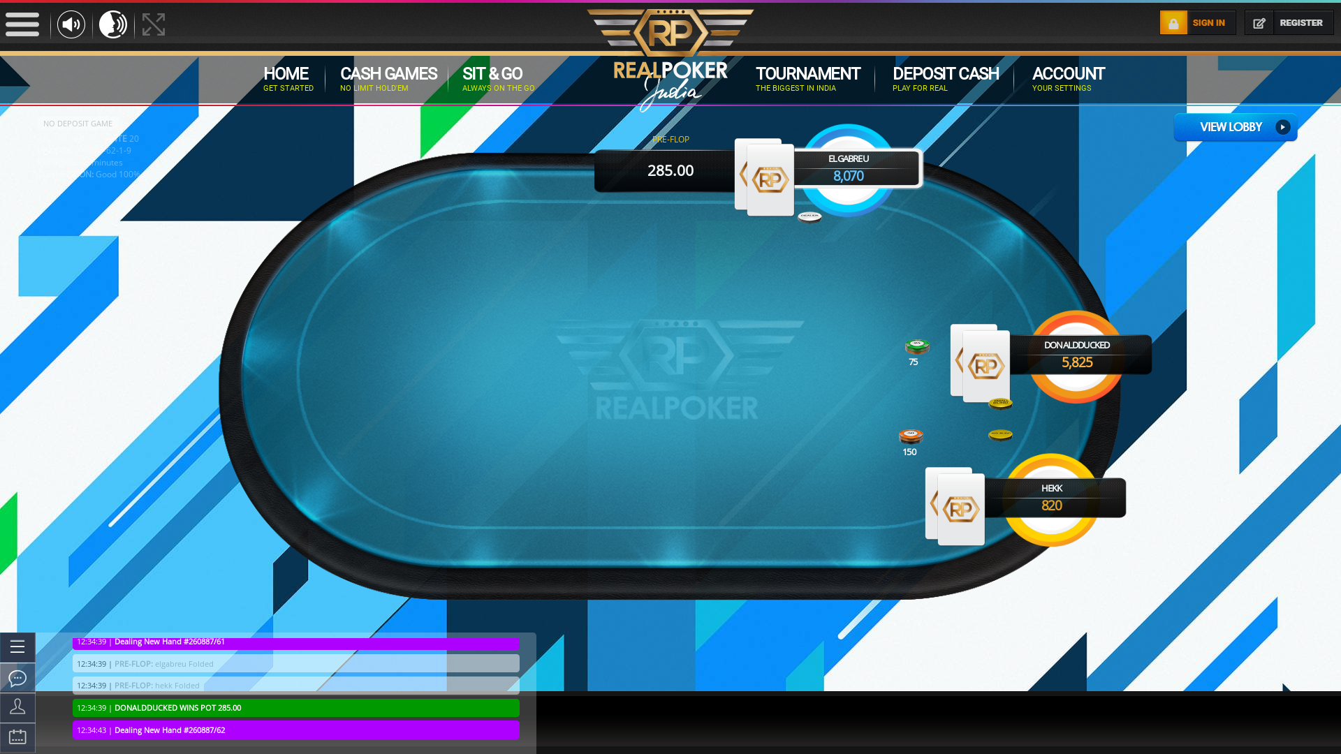 Indian 10 player poker in the 42nd minute
