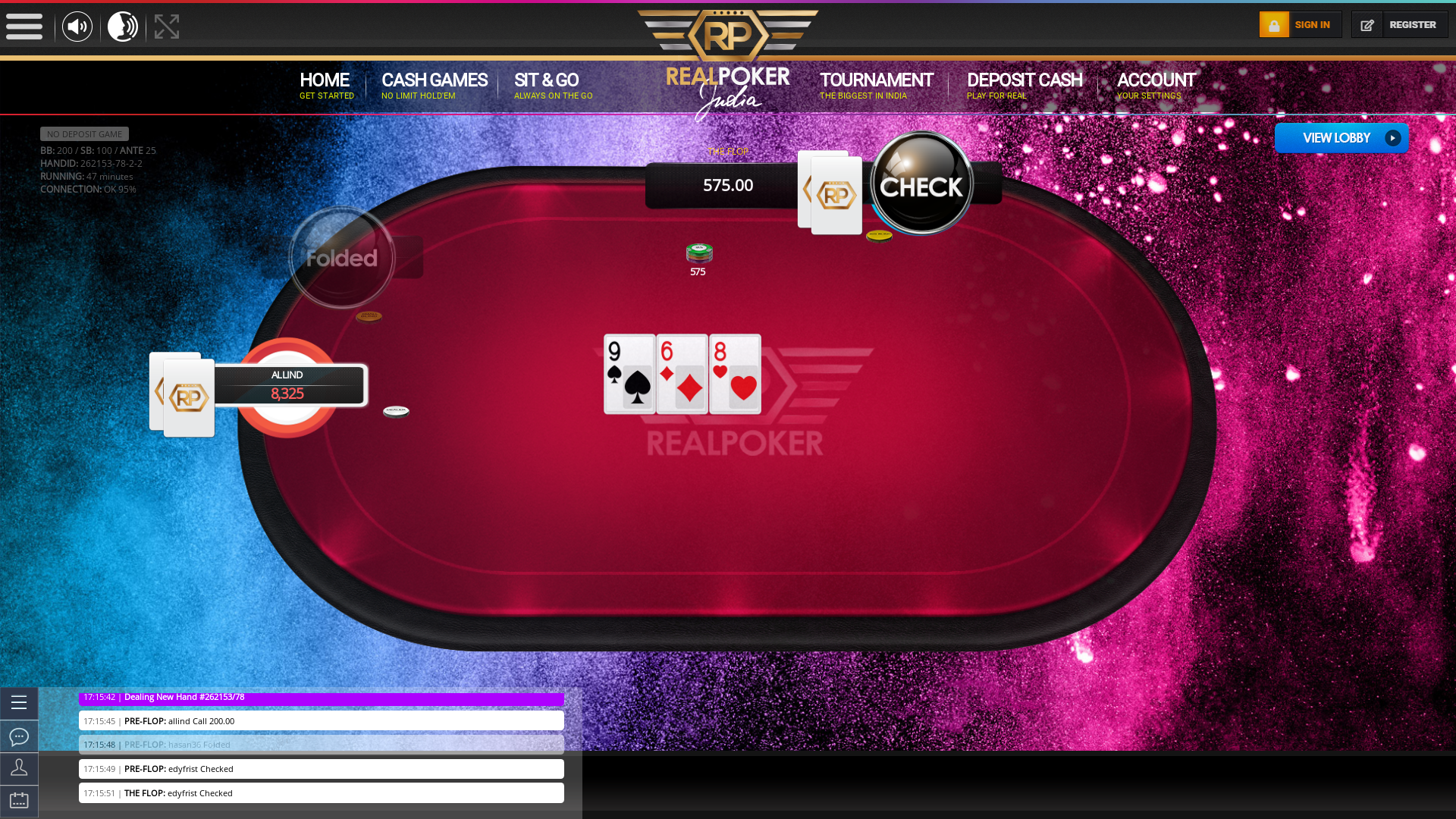 Indian 10 player poker in the 46th minute