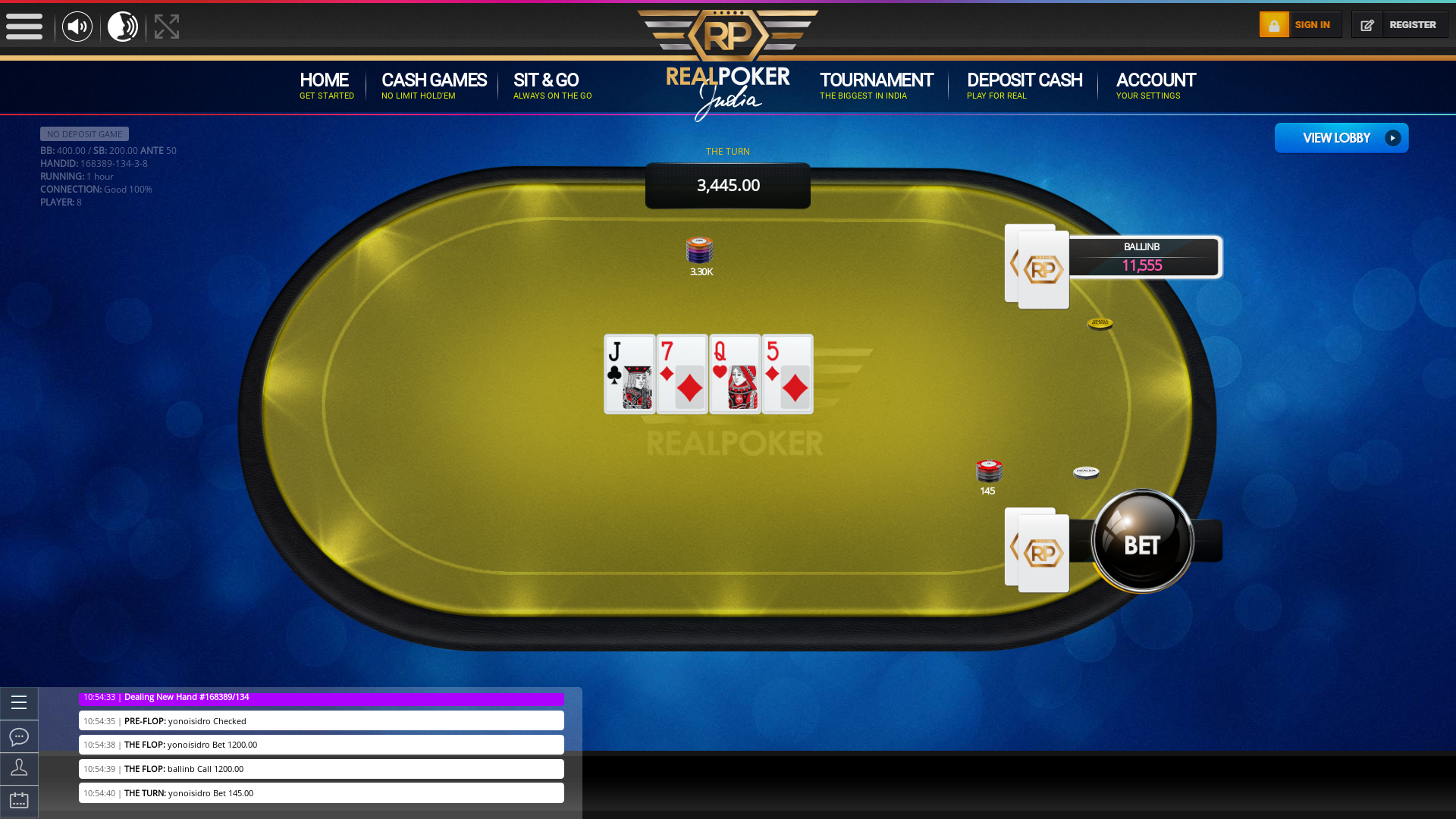 Indian 10 player poker in the 61st minute