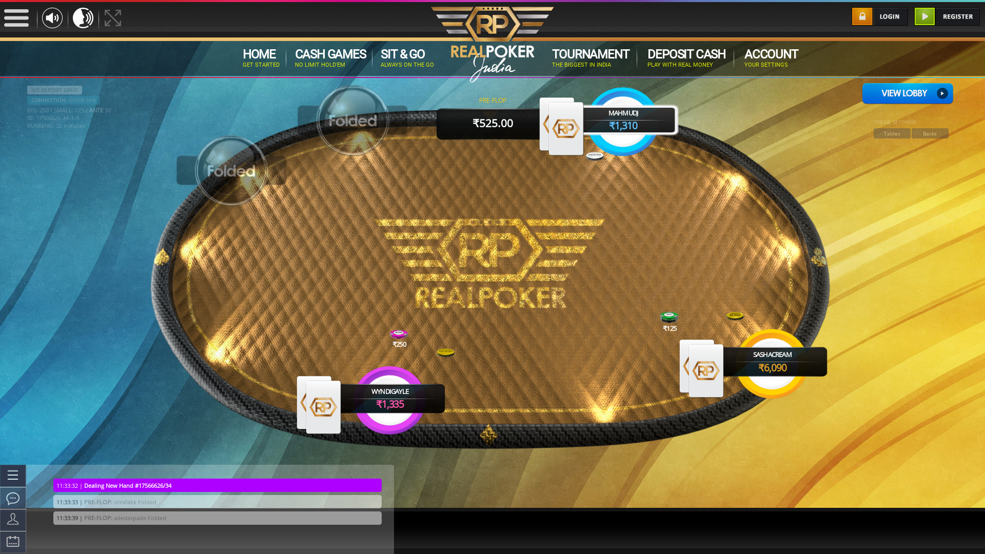 indian online poker on a 10 player table in the 32nd minute match up