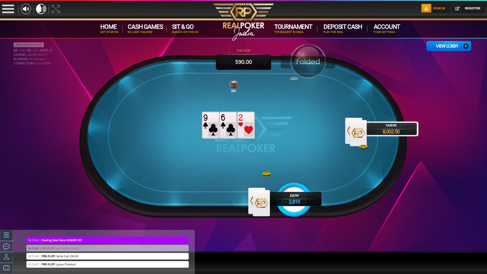 Indian poker on a 10 player table in the 12th minute