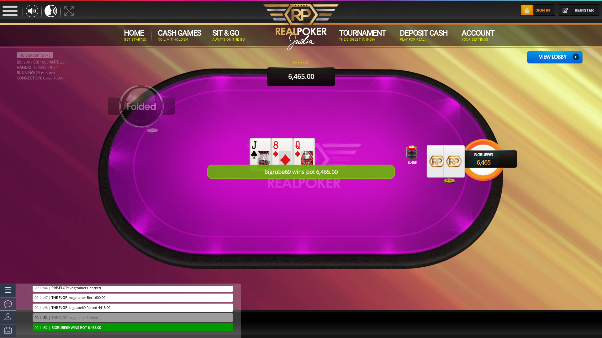 Jubilee Hills, Hyderabad online poker game on a 10 player table in the 28th minute of the match