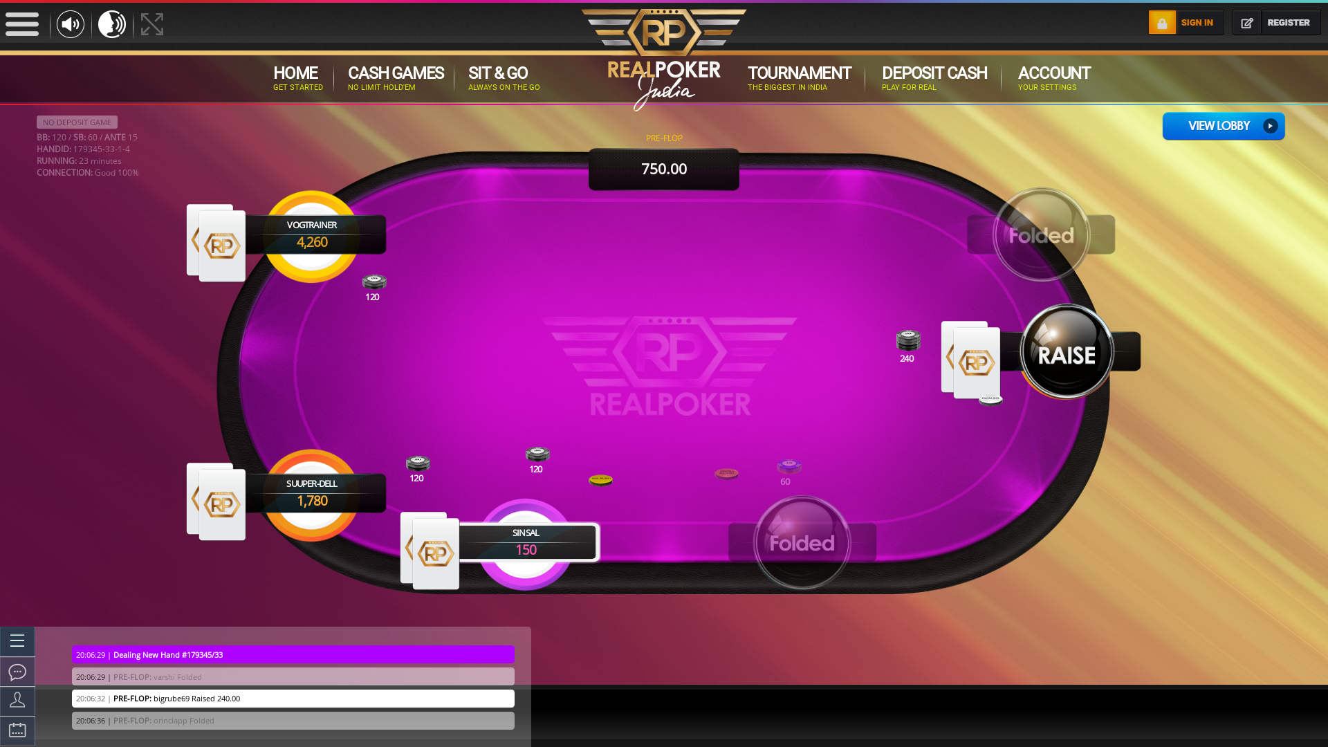 Jubilee Hills, Hyderabad texas holdem poker table on a 10 player table in the 23rd minute of the match