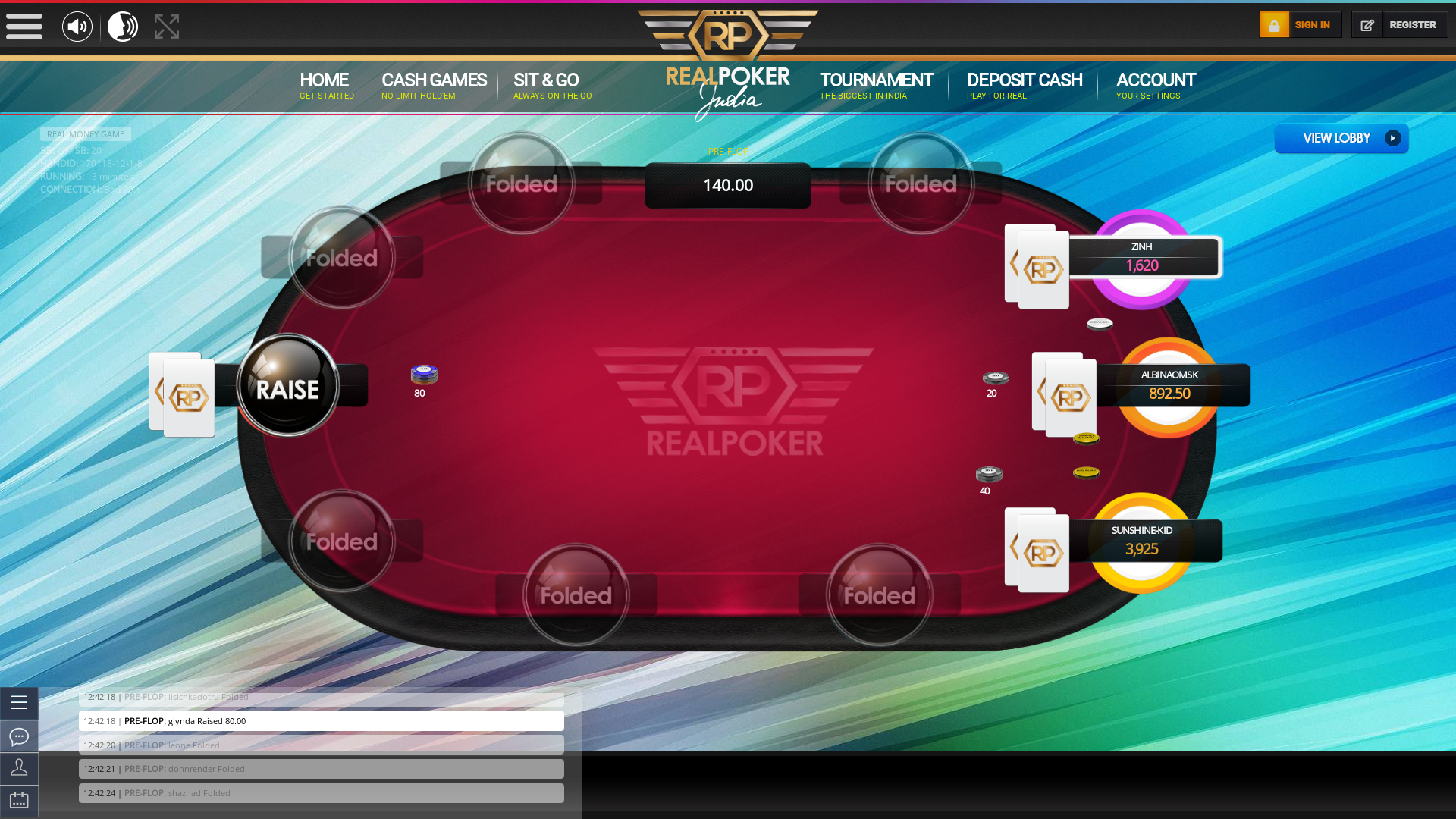 Kalyani Nagar, Pune texas holdem poker table on a 10 player table in the 13th minute