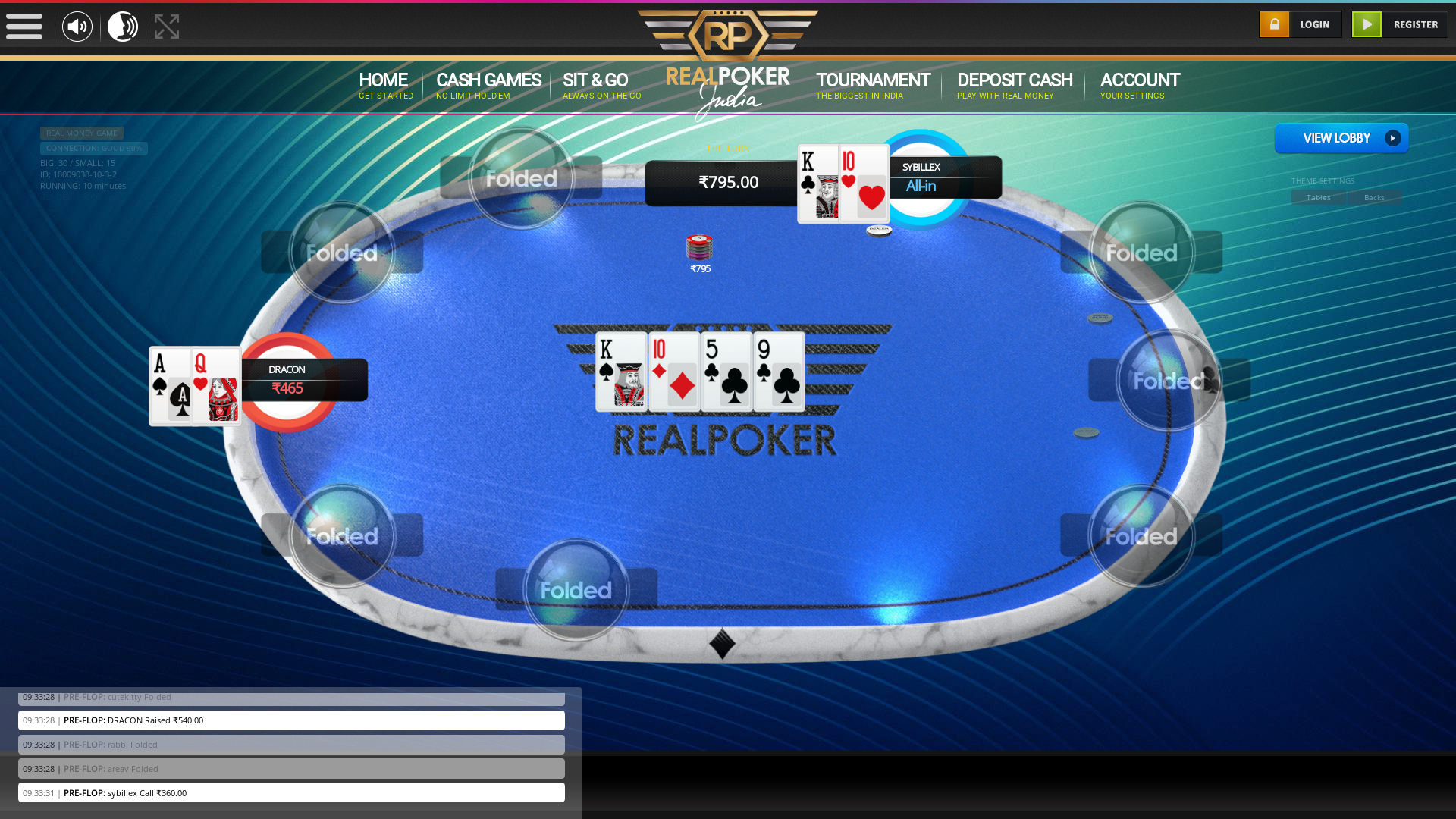 Pulikeshi Nagar, Bangalore Online Poker 10 Player