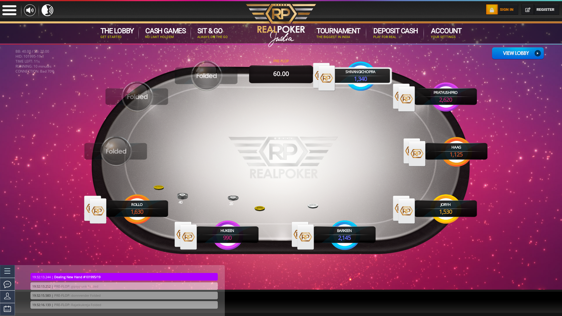 Mangalore Online Poker from 13th July