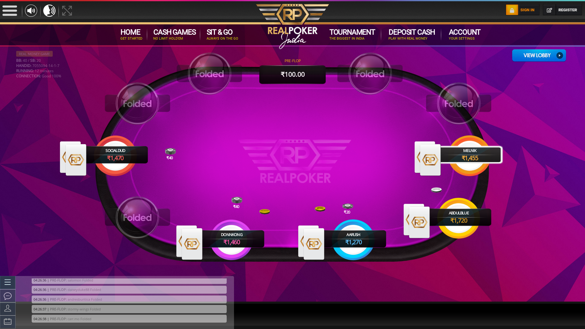 Rajendra Nagar, New Delhi Play Poker from 2nd April