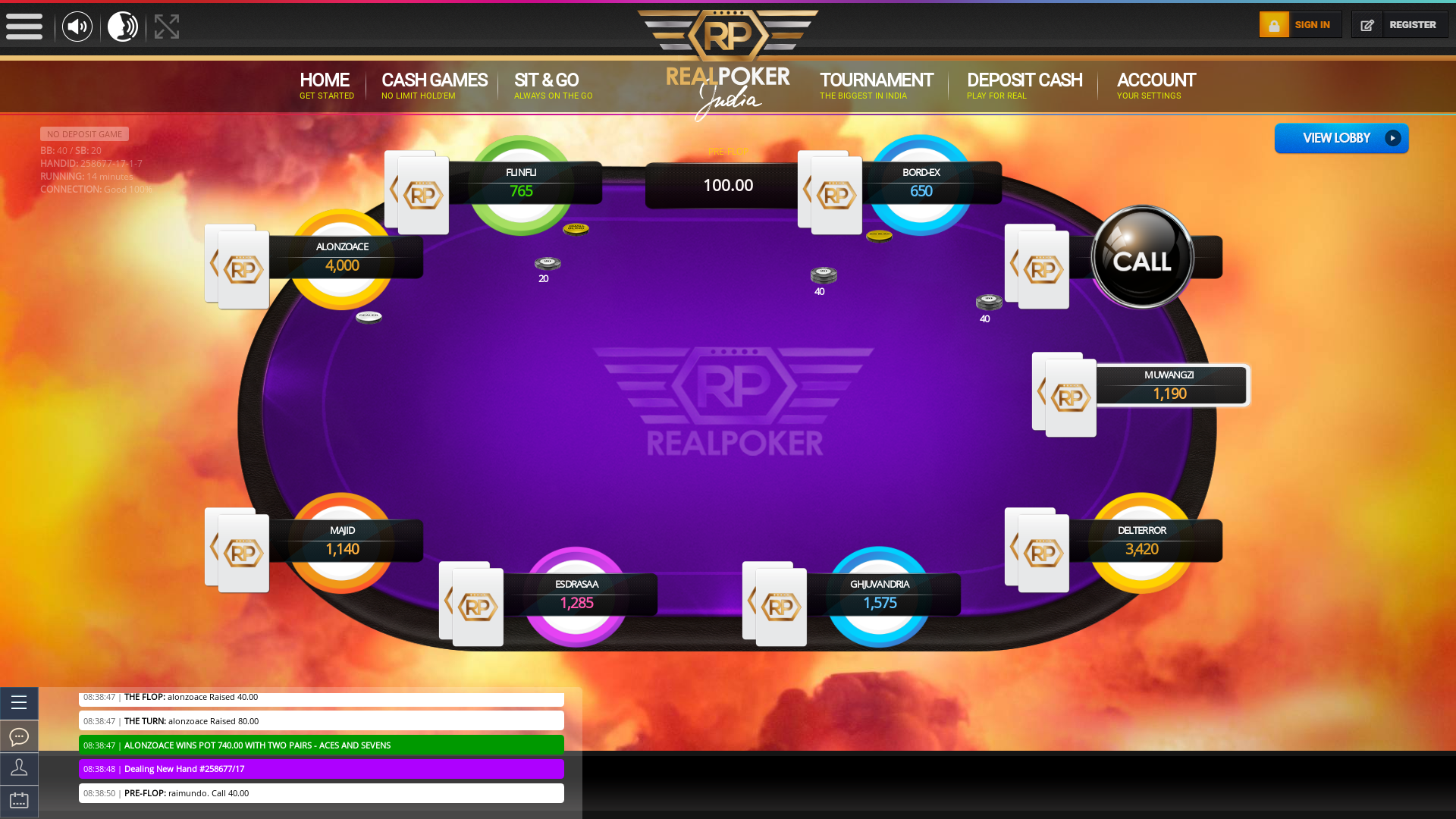 Jor Bagh, New Delhi Online Poker from November