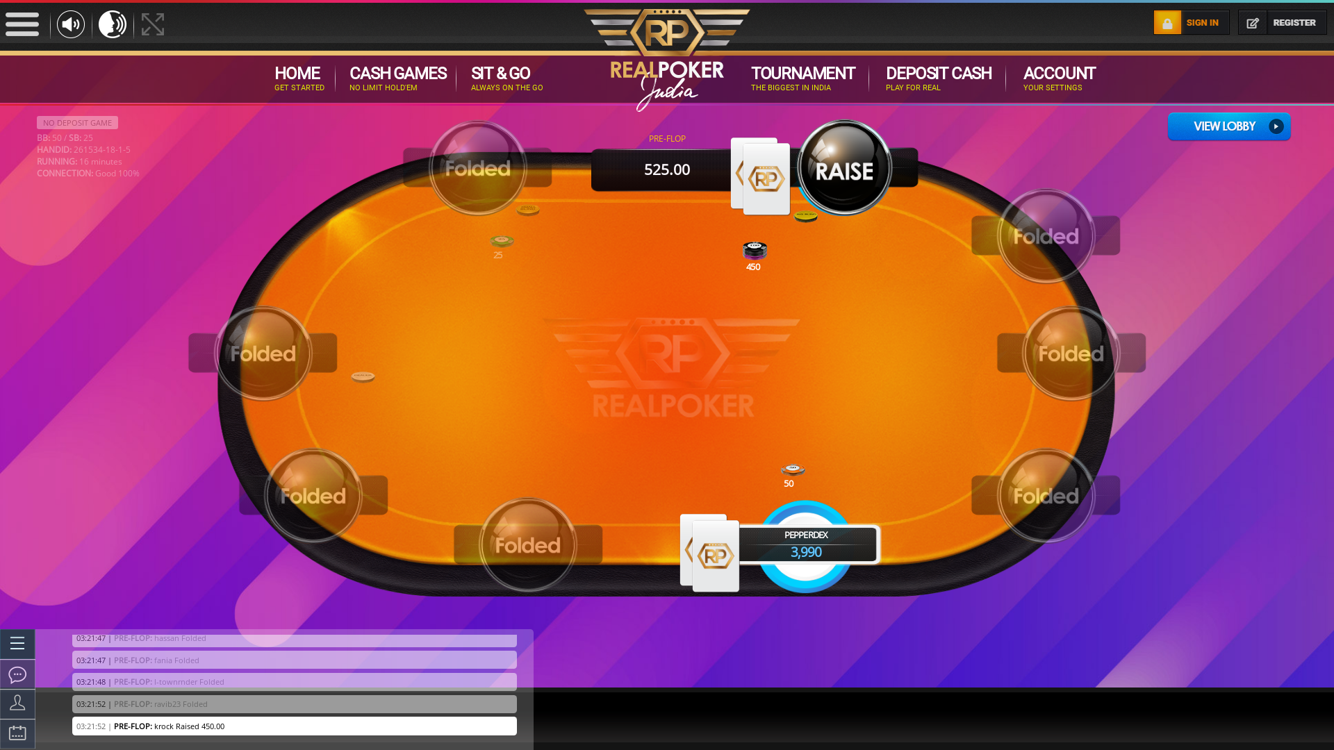 Real poker 10 player table in the 16th minute of the match