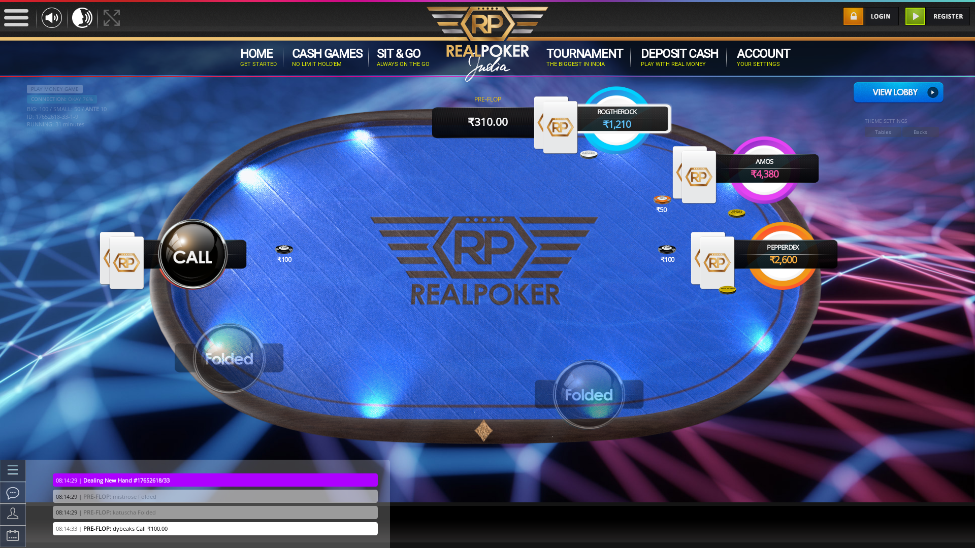 Real poker 10 player table in the 3 match