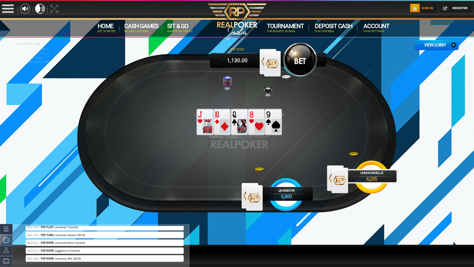 Real poker 10 player table in the 33rd minute