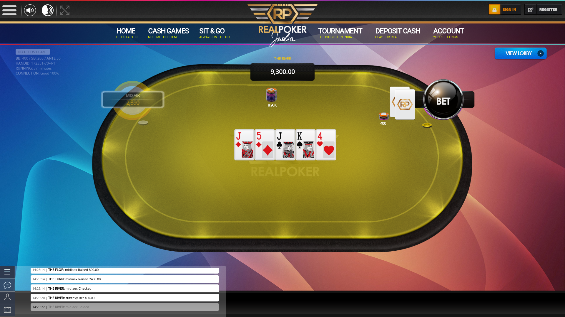 Real poker 10 player table in the 37th minute of the match
