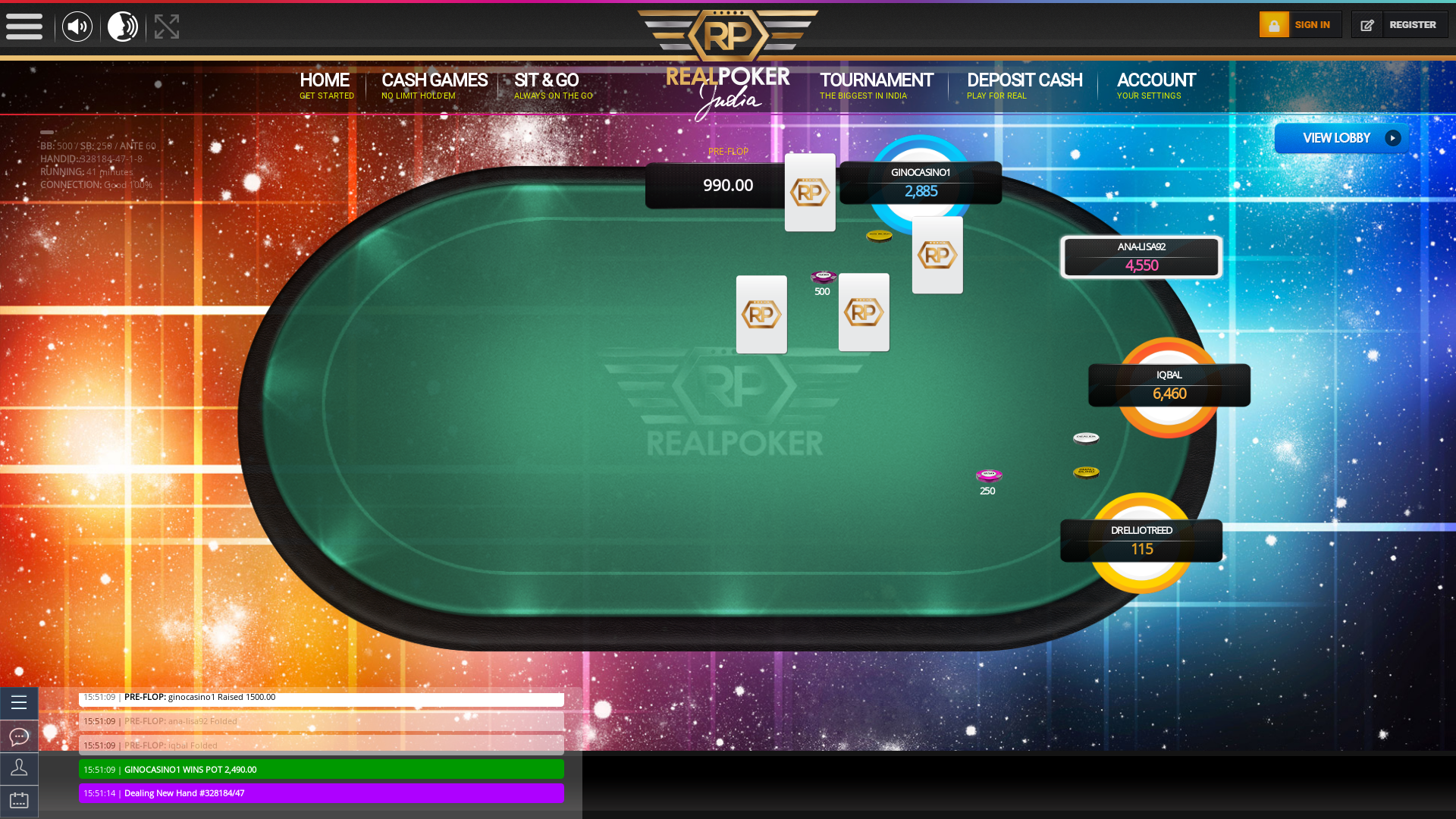 Real poker 10 player table in the 4 match