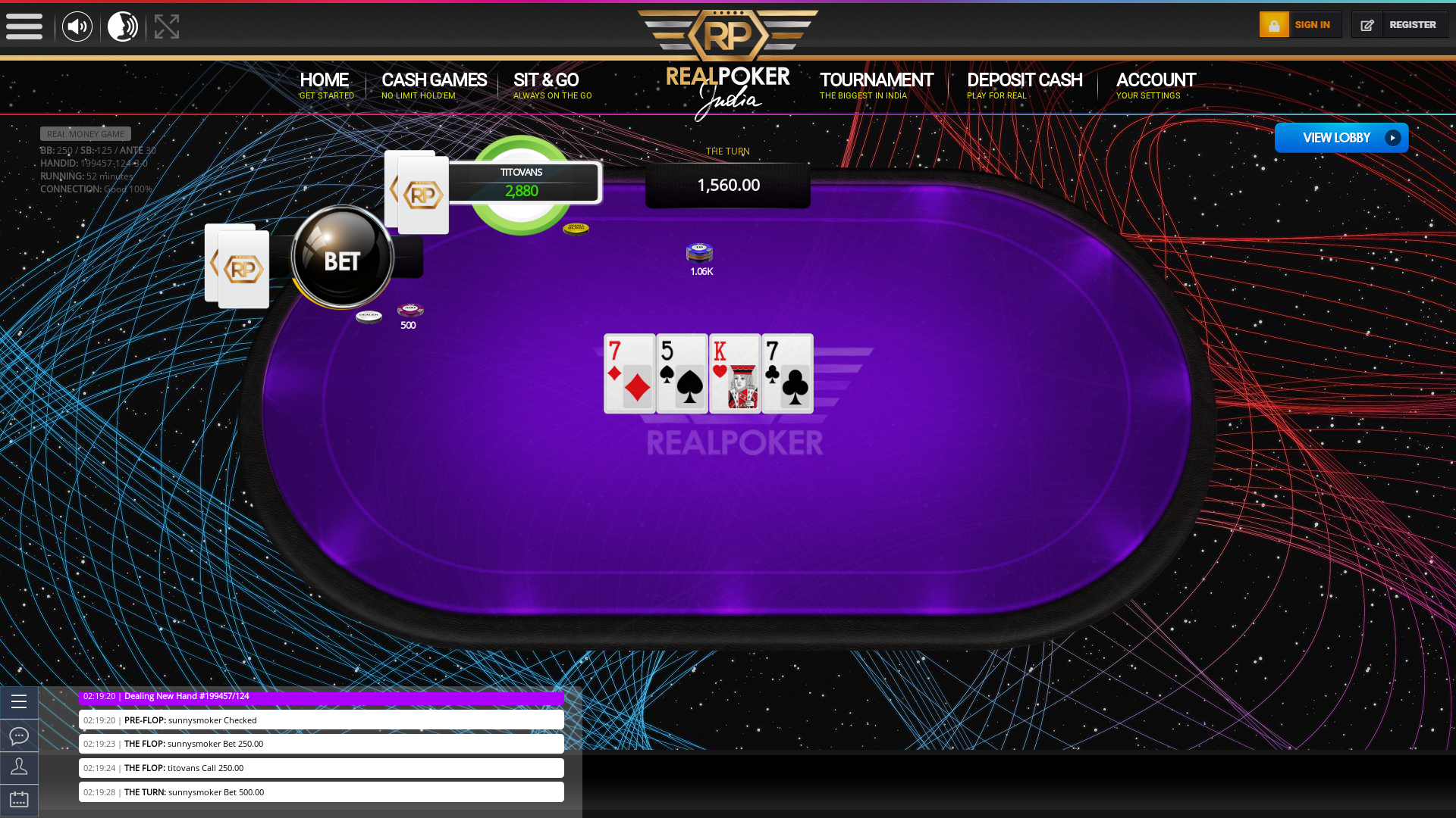 Real poker 10 player table in the 52nd minute of the match