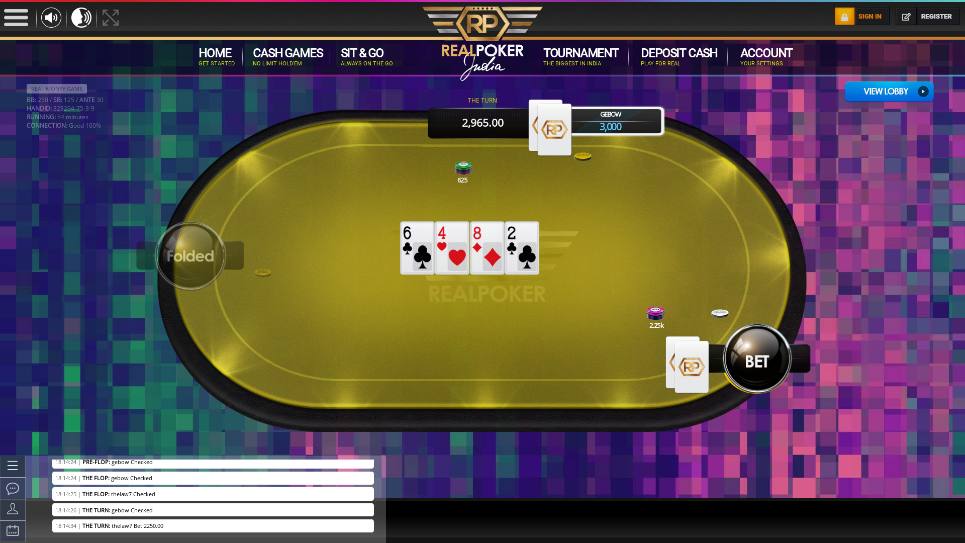 Real poker 10 player table in the 54th minute