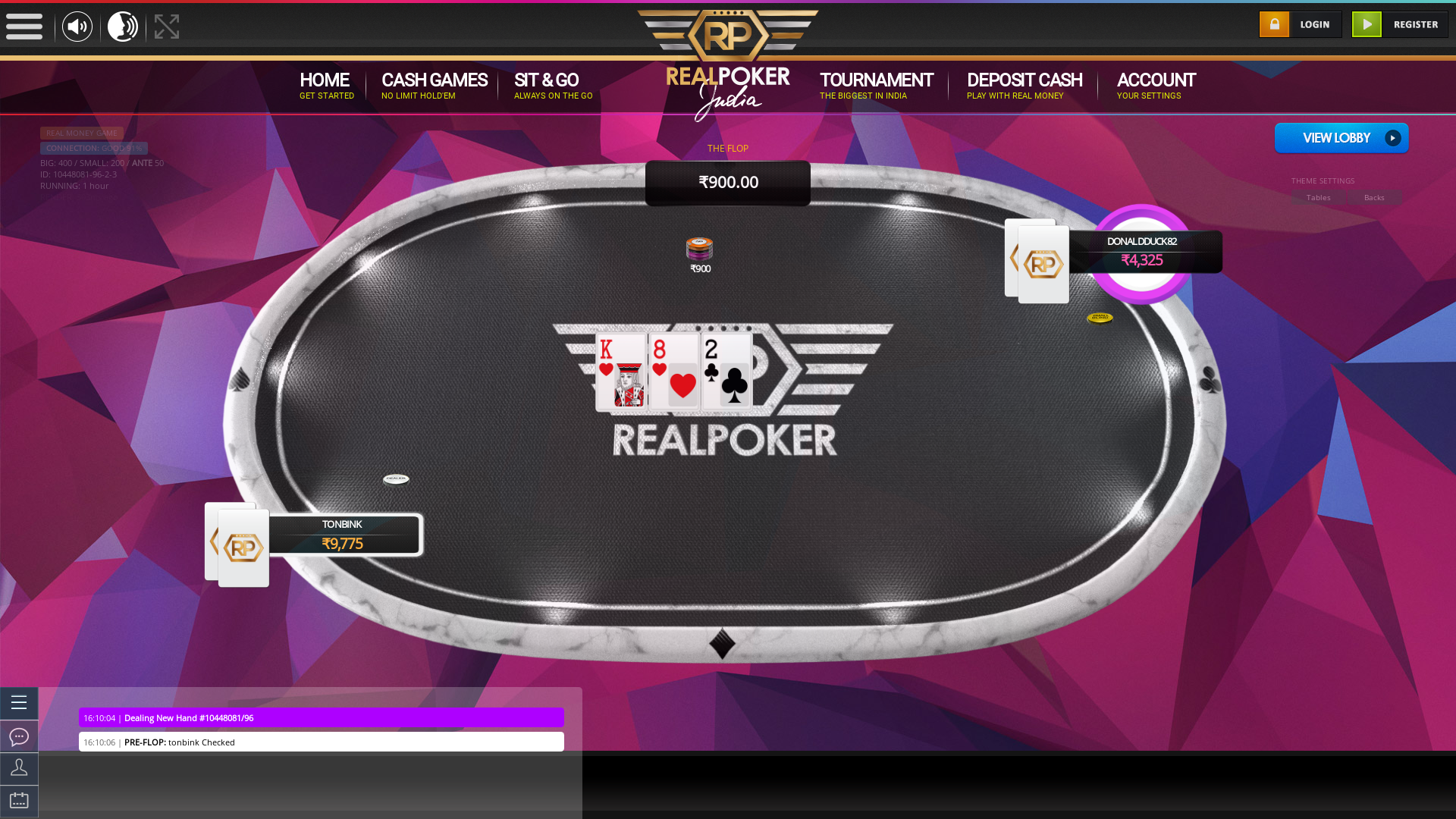 Real poker 10 player table in the 6 match