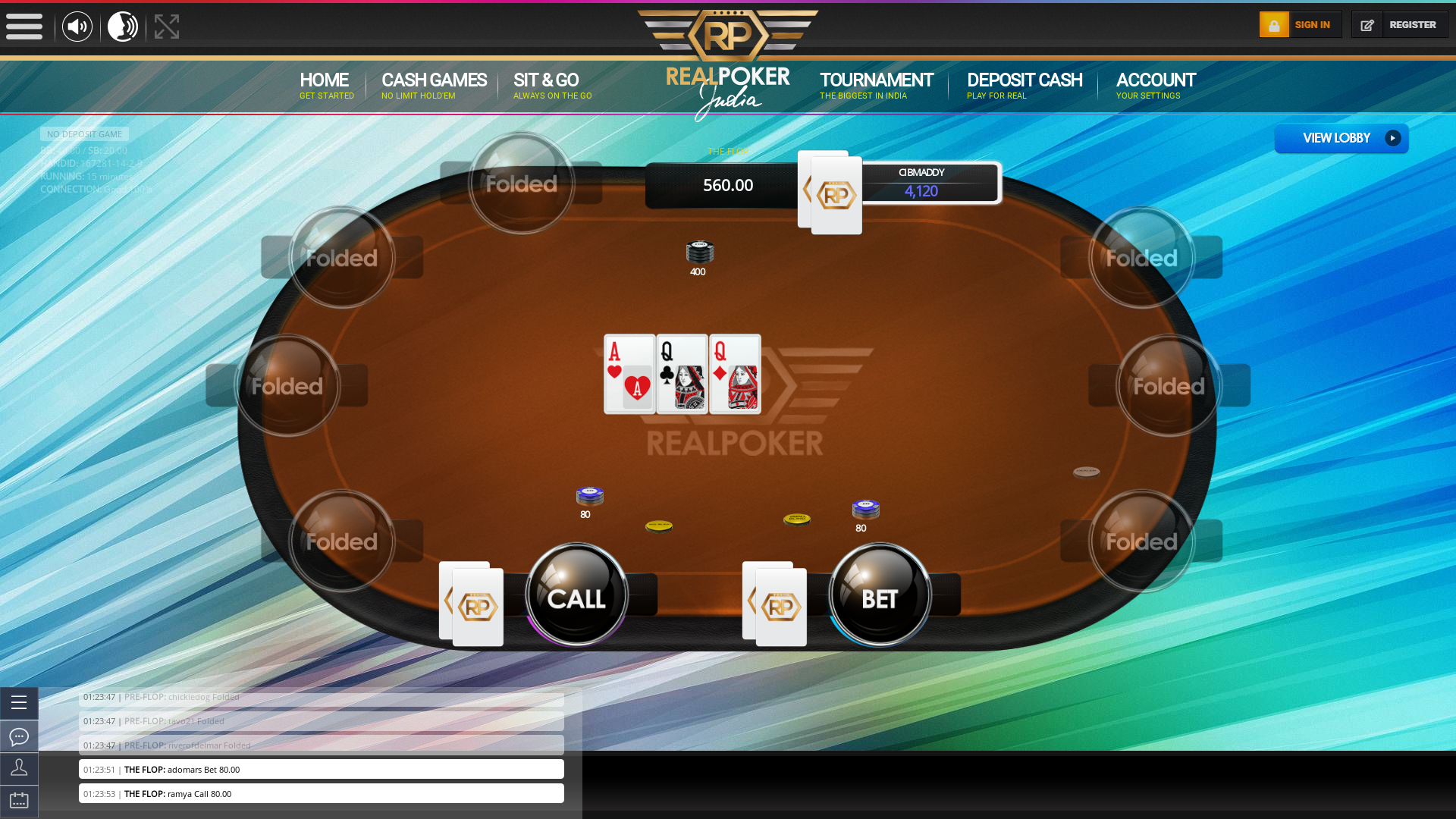 Bambolim Online Poker 10 Player