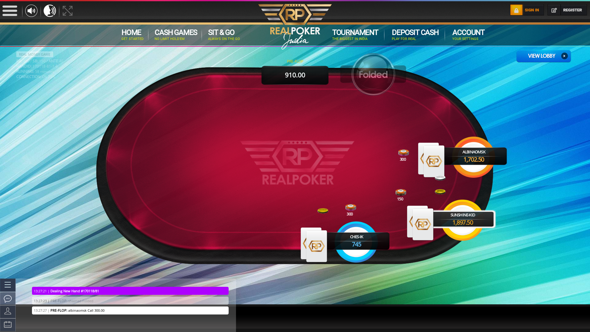 shaznad playing Kalyani Nagar, Pune poker
