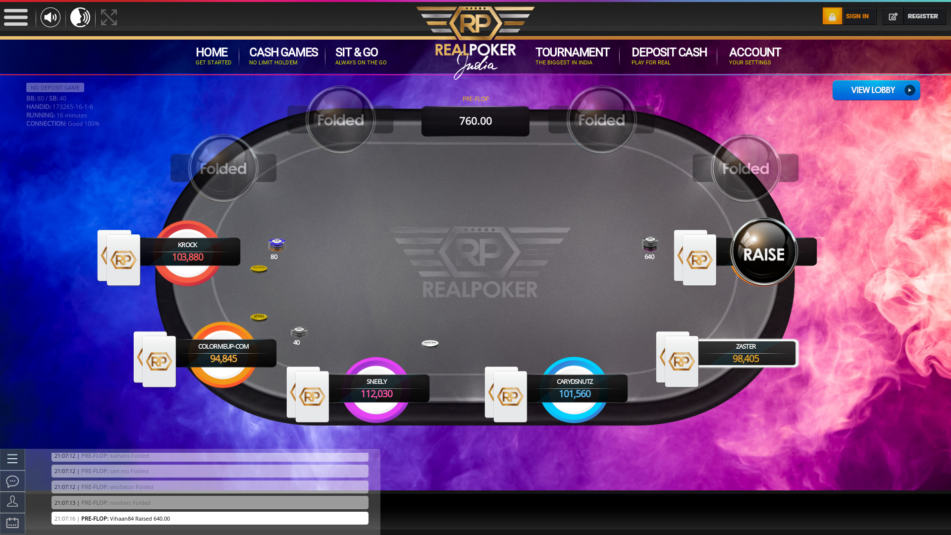 Malviya Nagar, New Delhi Online Poker 10 Player