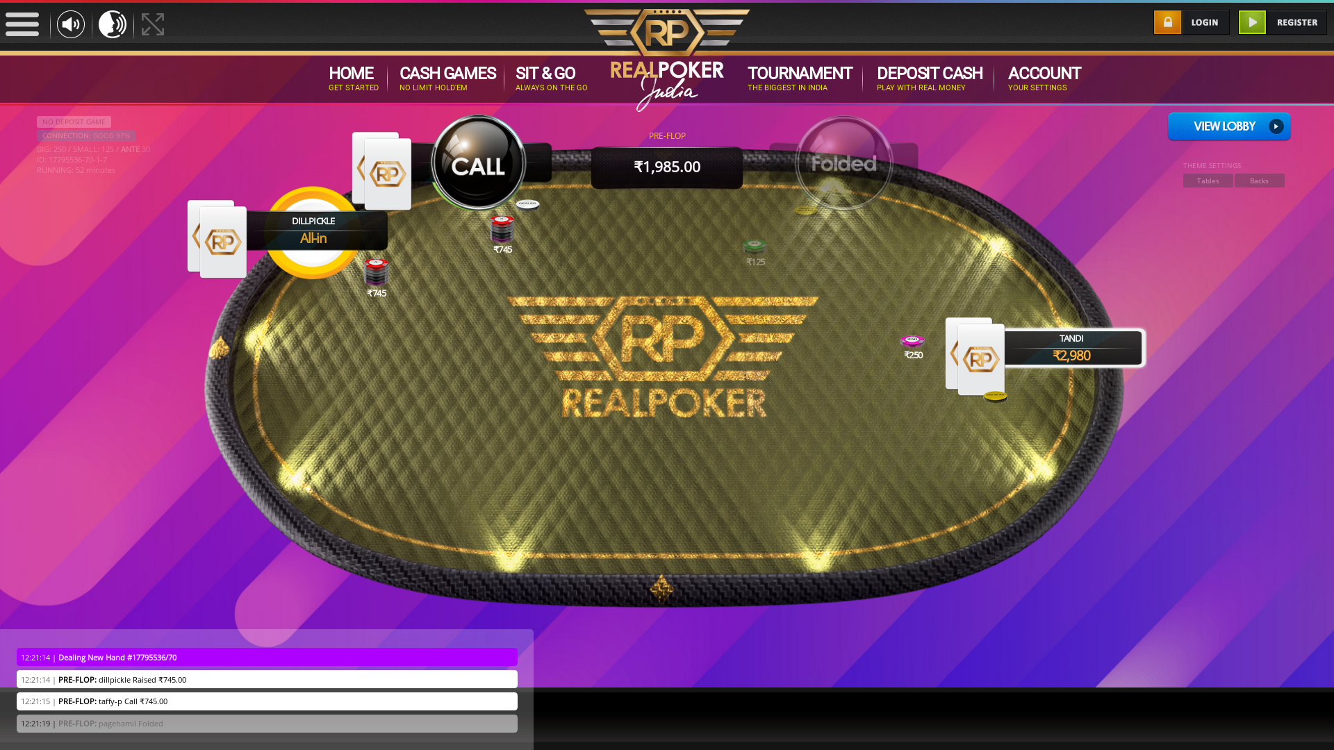 The 71st hand dealt between pagehamil, dillpickle, tandi, taffy-p,