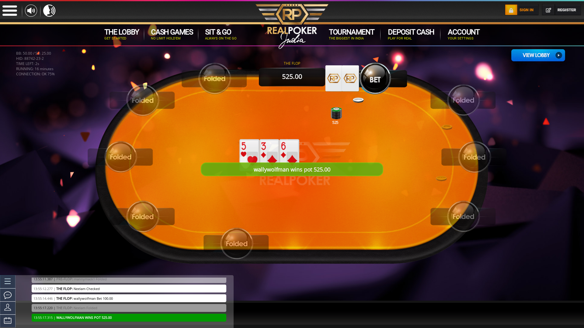Thursday Afternoons  Texas Holdem Poker Online Table